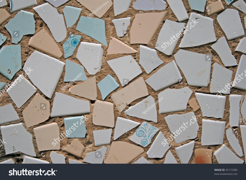 Background broken tiles stock photo 32172385 shutterstock background from broken tiles dailygadgetfo Gallery