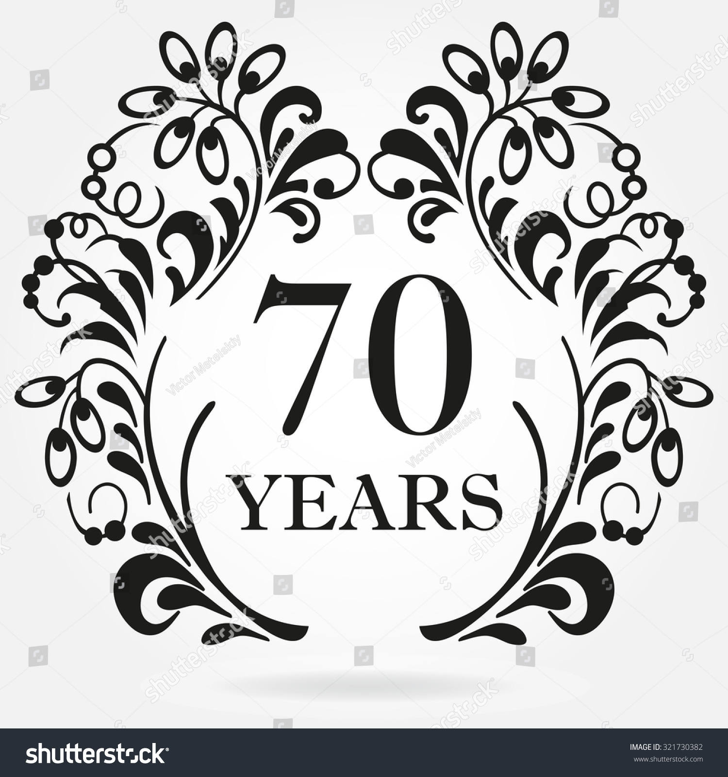 70 Years Anniversary Icon Ornate Frame Stock Vector 321730382 ...