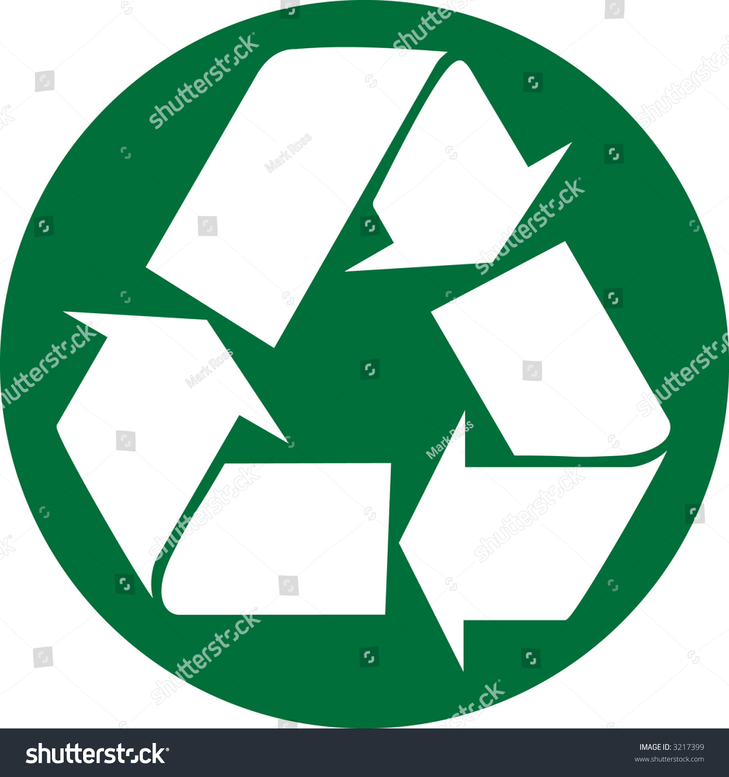White recycle symbol green circle stock illustration 3217399 white recycle symbol in green circle buycottarizona Choice Image