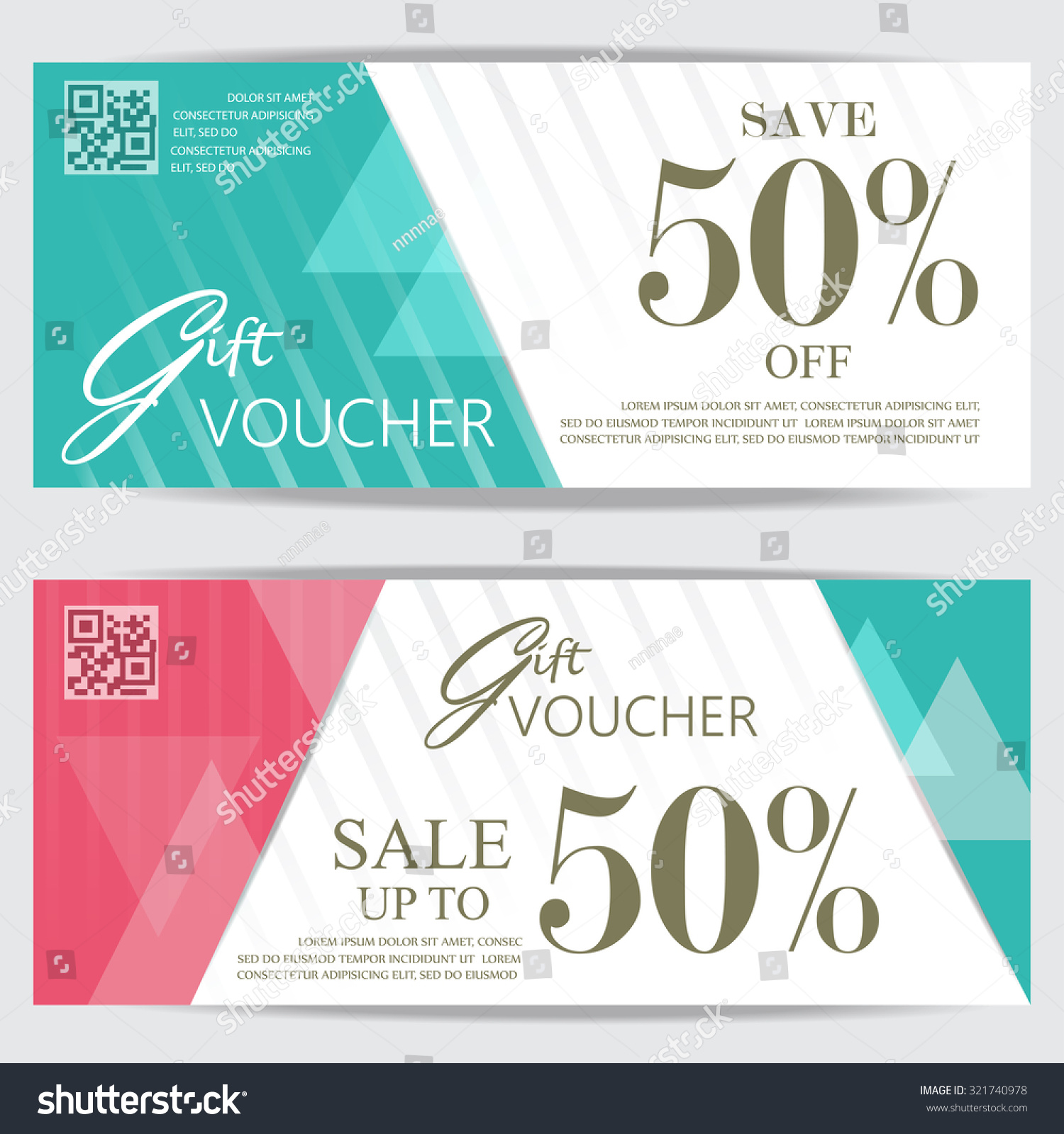 gift voucher certificate coupon template cute stock vector 321740978 shutterstock. Black Bedroom Furniture Sets. Home Design Ideas