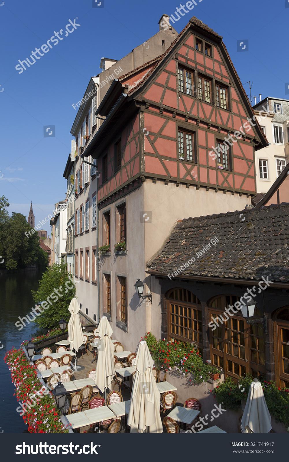 Architecte Bas Rhin architecture petite france strasbourg basrhin alsace stock