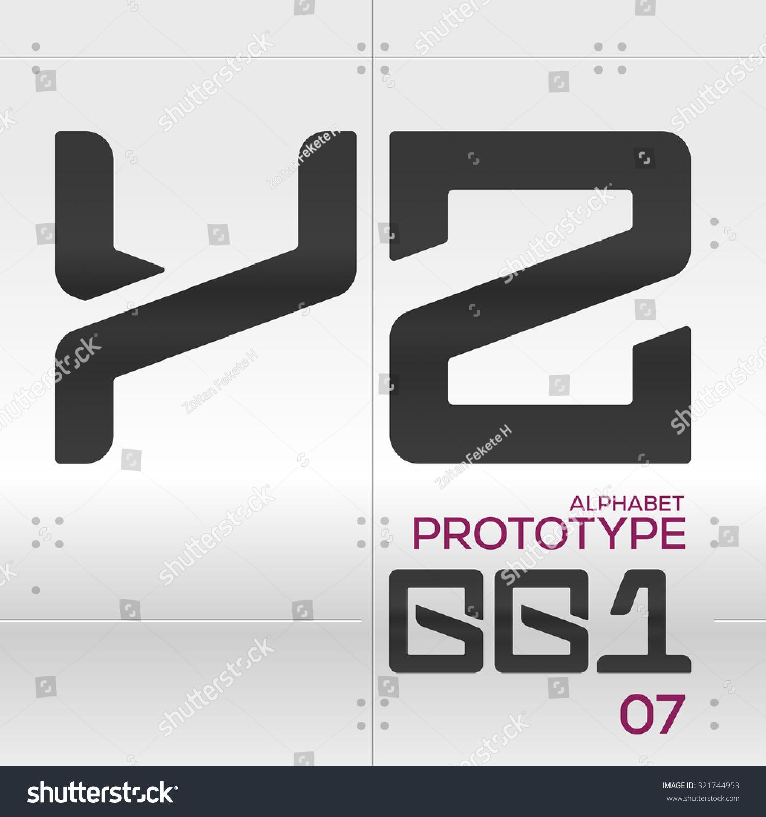 Prototype Vector Graphic Alphabet Set Y Stock Vector ...  Prototype Vecto...