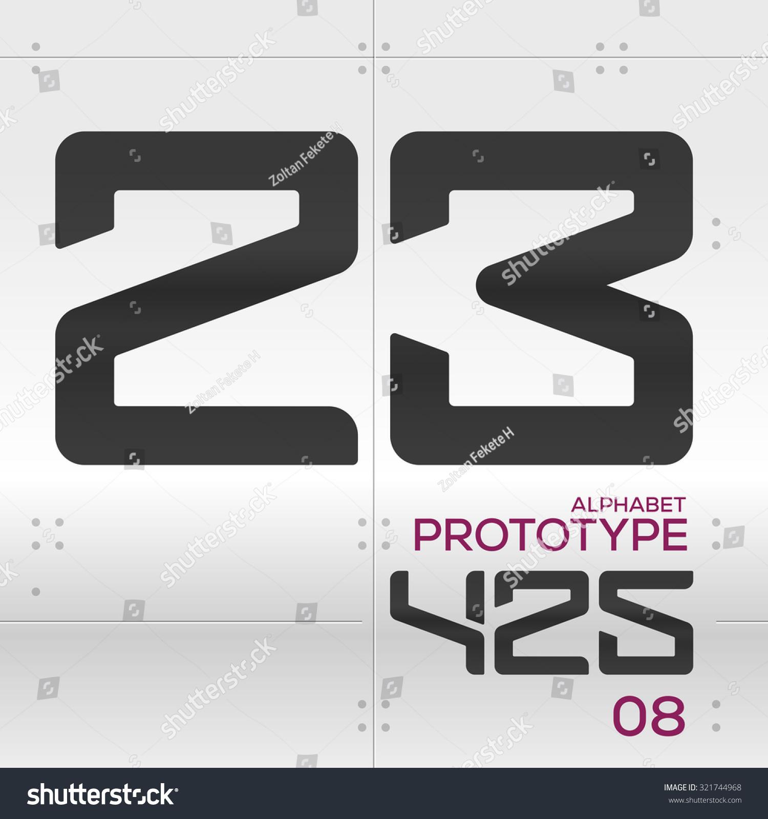 Prototype Vector Graphic Alphabet Set 2 Stock Vector ...  Prototype Vecto...