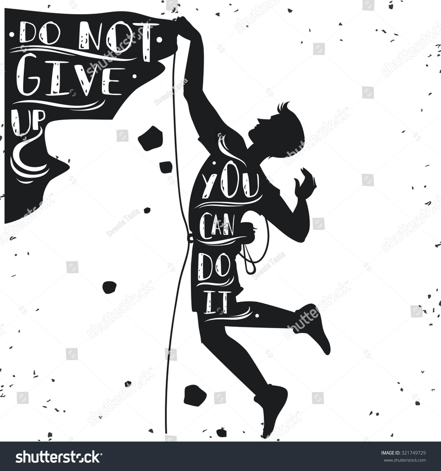 T shirt design inspiration typography - Motivational And Inspirational Typography Poster With Quote Do Not Give Up You Can Do