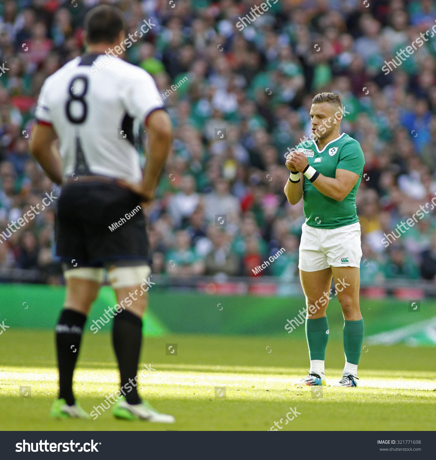 LONDON ENGLAND SEPTEMBER 27 2015 The 2015 Rugby World Cup Pool D match between Ireland and Romania at Wembley Stadium on September 27 2015 in London United Kingdom