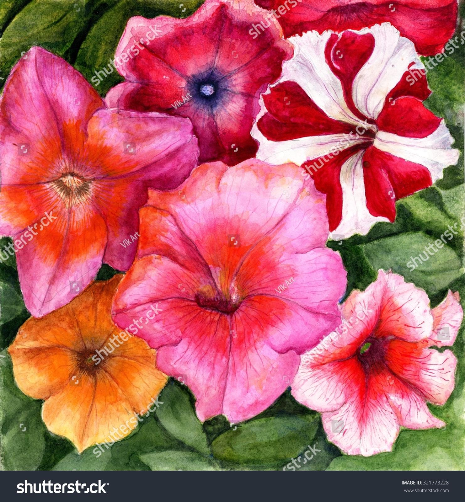 Watercolor painting beautiful flowers stock illustration 321773228 watercolor painting of the beautiful flowers izmirmasajfo