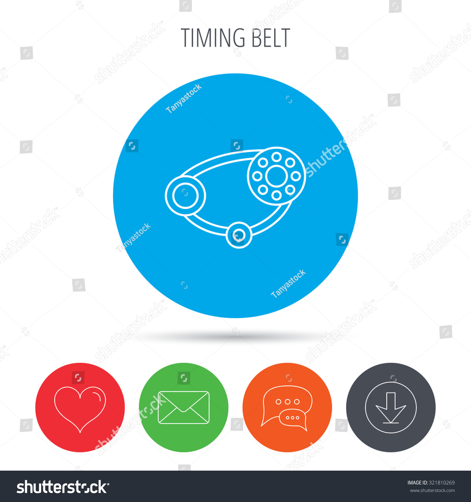 Timing Belt Icon Generator Strap Sign Stock Vector 321810269 ...