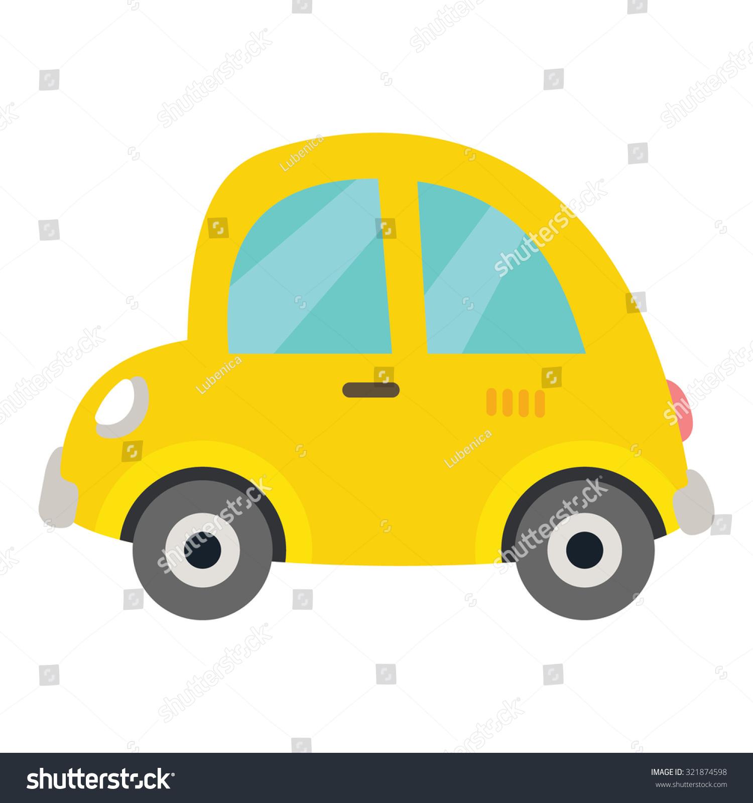 Pics Photos Yellow Background Children Sweetheart Cartoon Cars Templates Psd