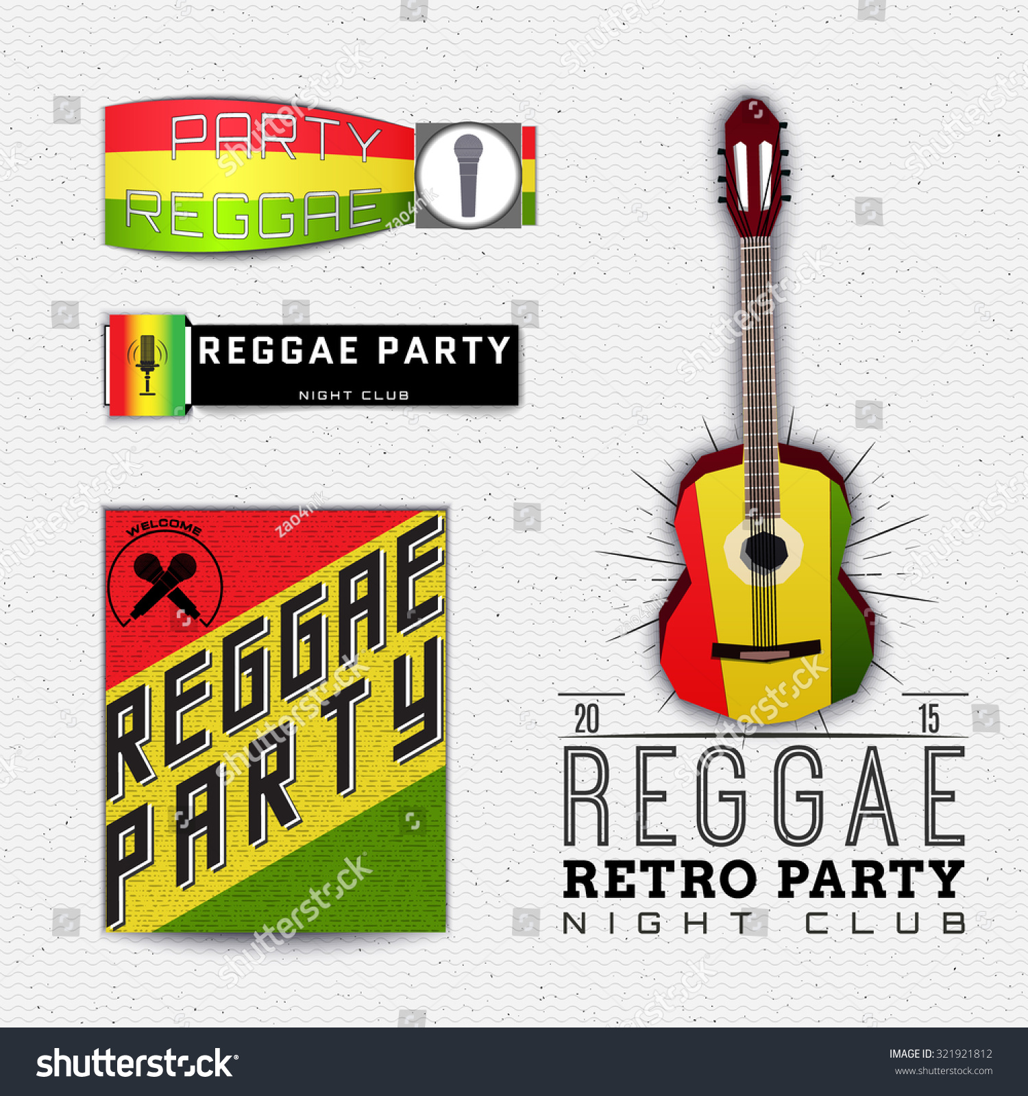Reggae Party Insignia Labels Can Be Vector 321921812 – Jamaican Party Invitations