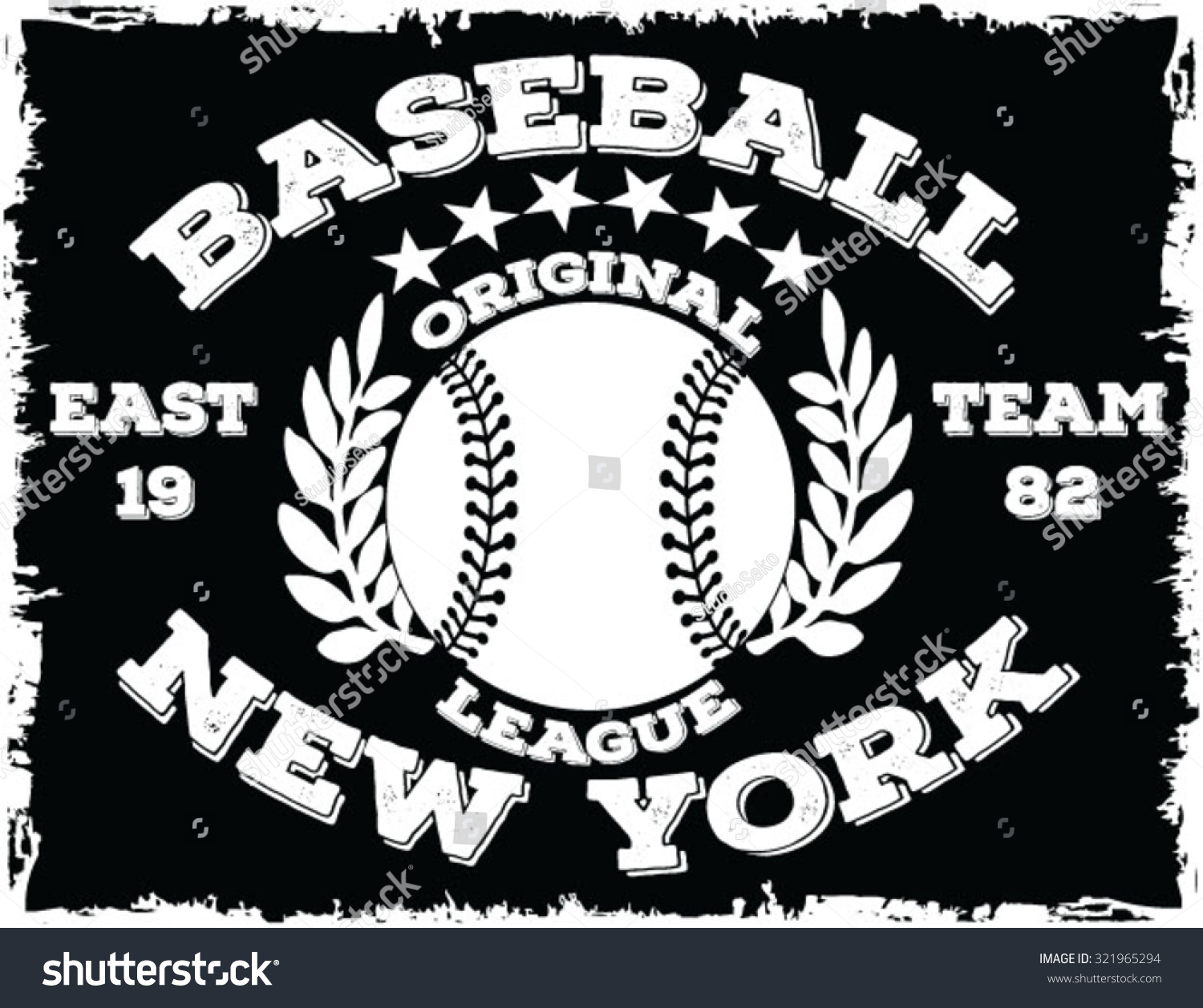 Baseball Tshirt Design Stock Vector 321965294 - Shutterstock