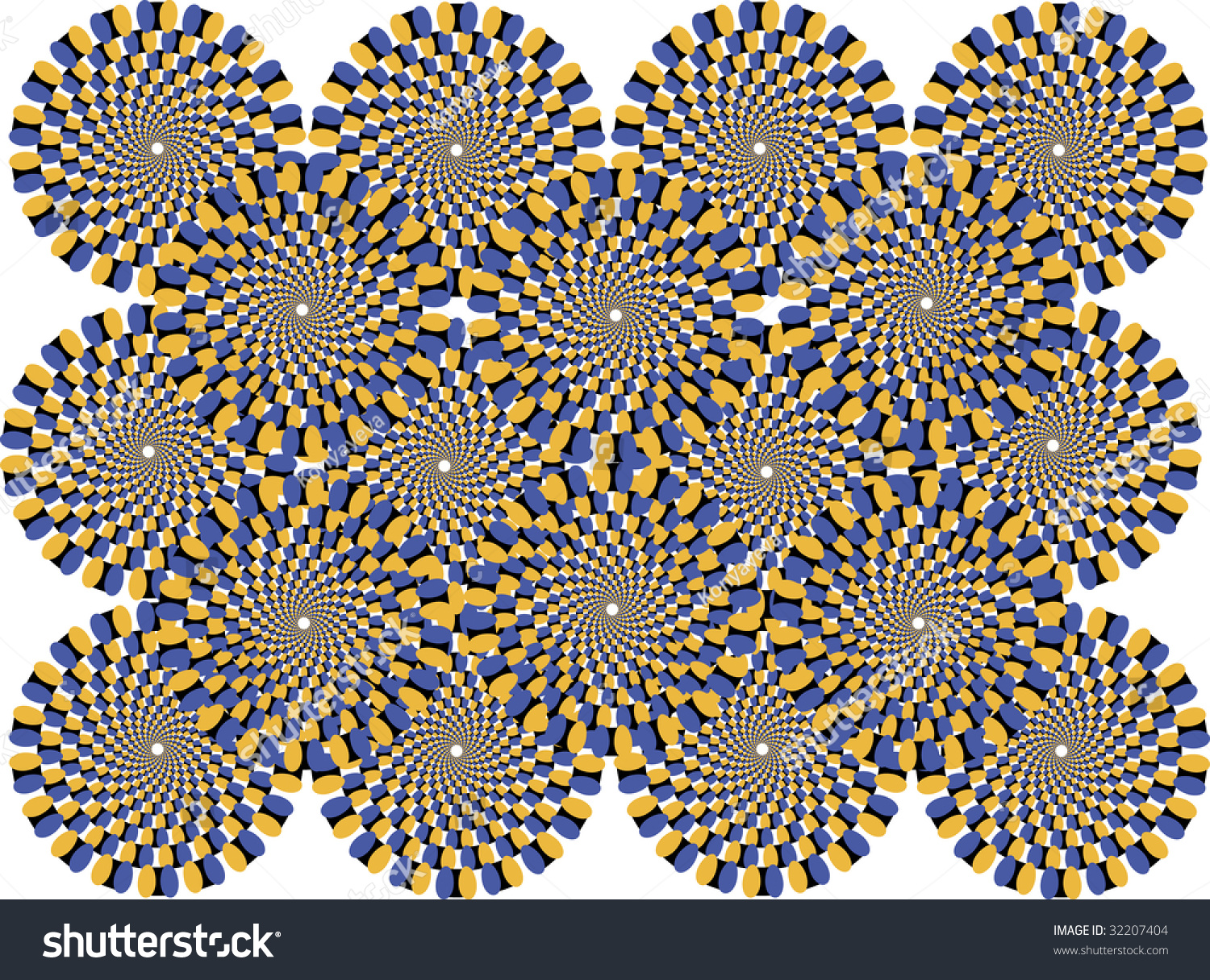 Colored Circles Represent The Effect Of Motion Stock ...