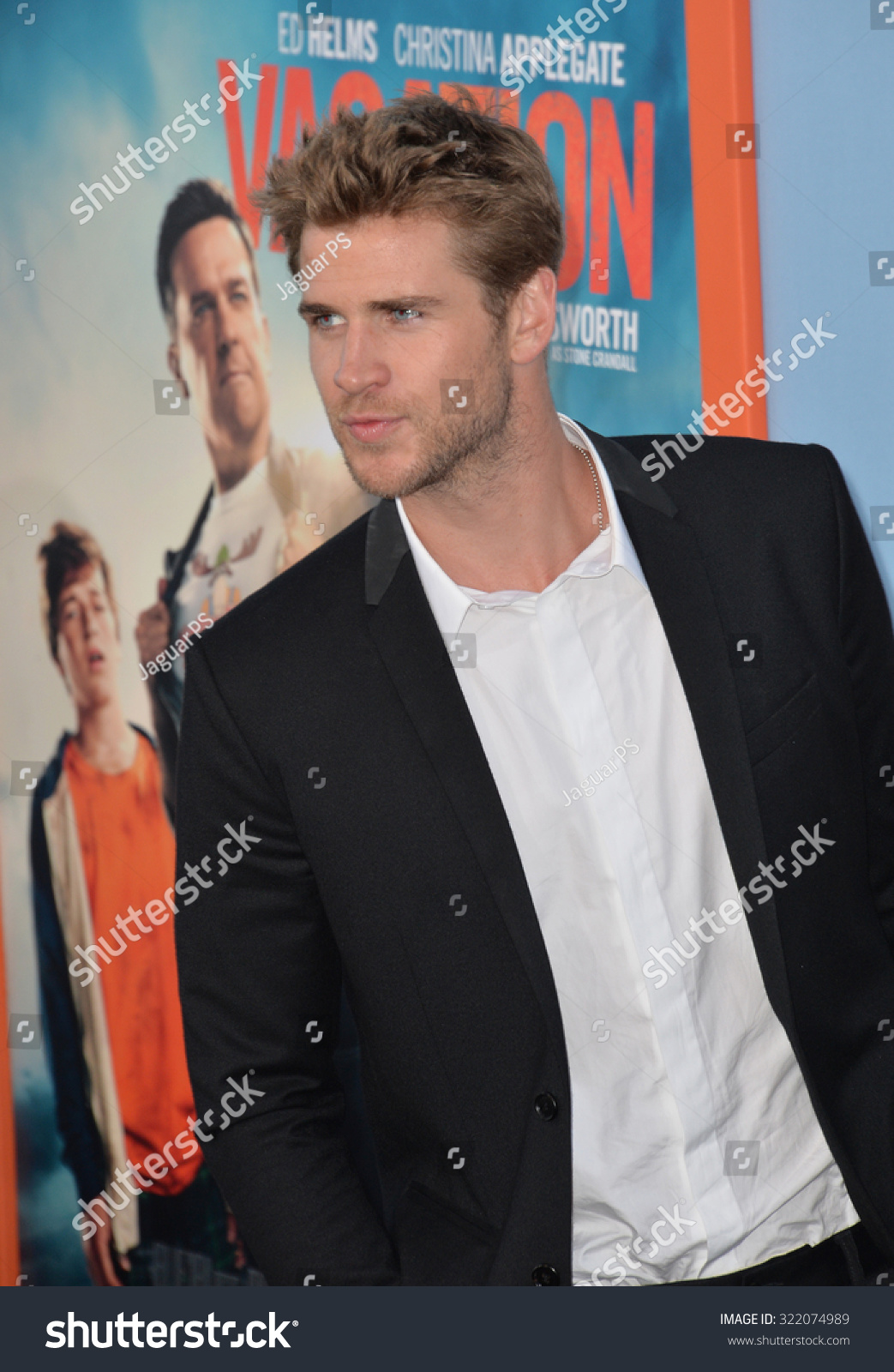 LOS ANGELES CA JULY 27 2015 Liam Hemsworth at the premiere of Vacation at the Regency Village Theatre Westwood