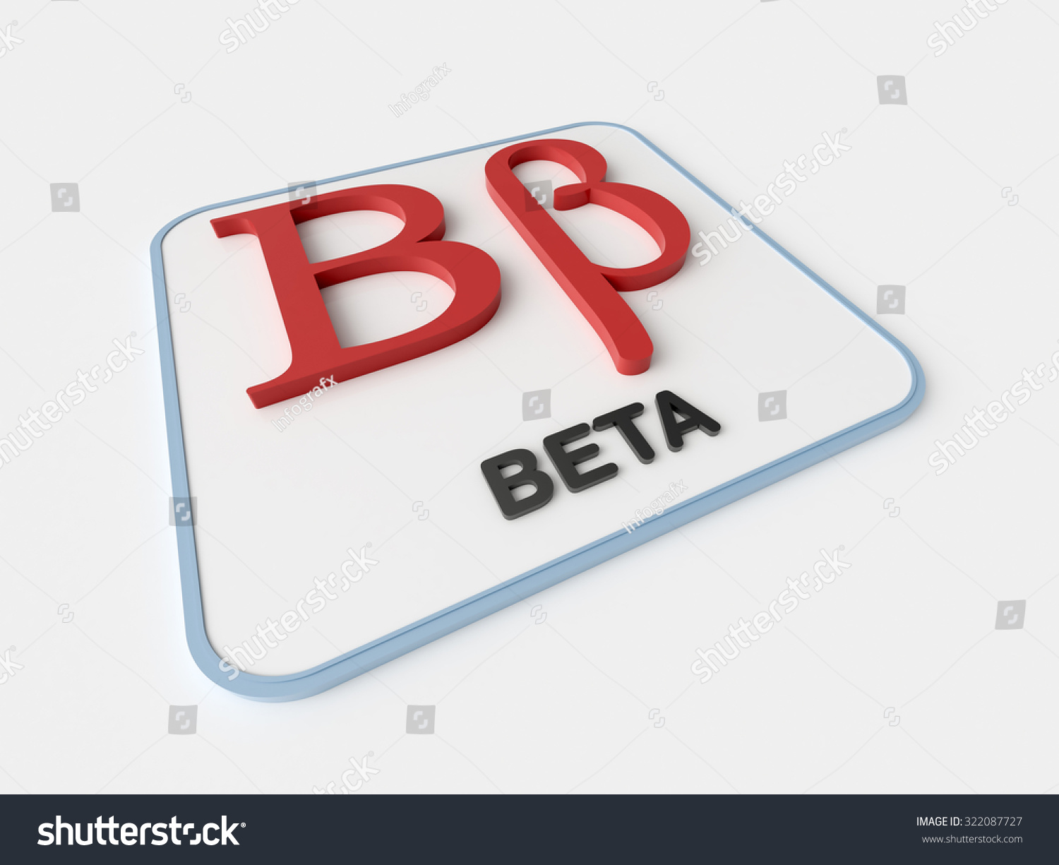 Beta Greek Symbol On White Display Board Science And Mathematical