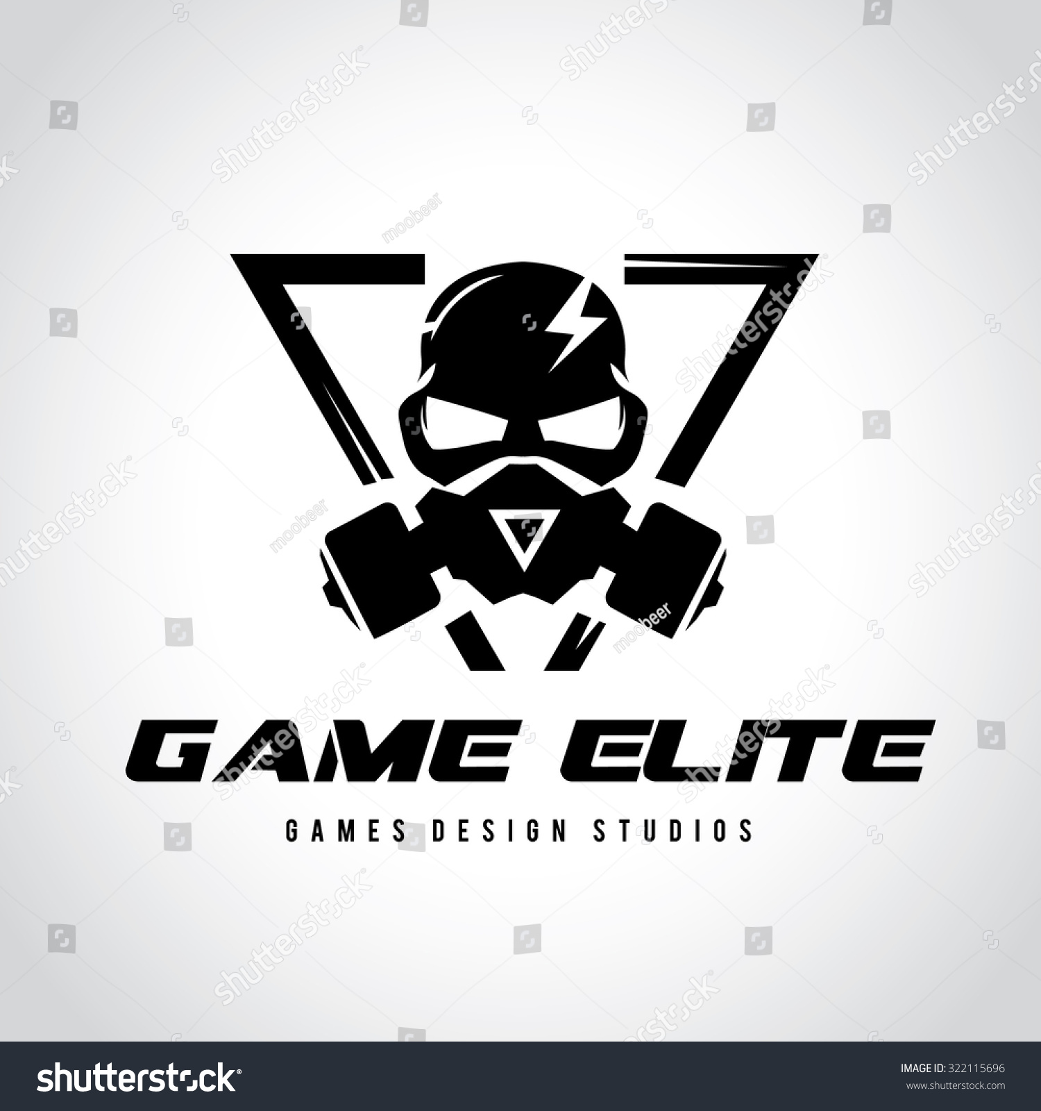 games logo vector logo template stock vector royalty free