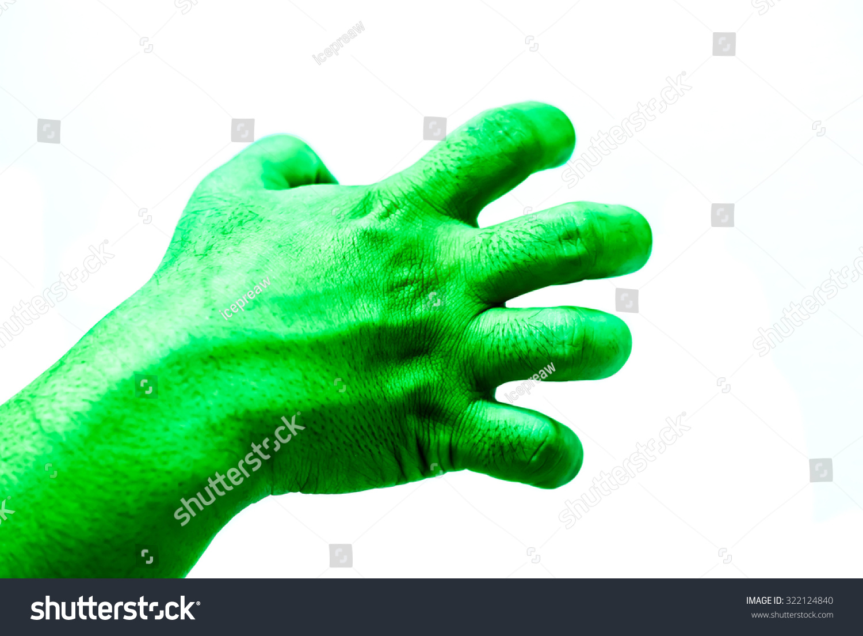 Isolate Hulk Fist On White Background Stock Photo Edit Now