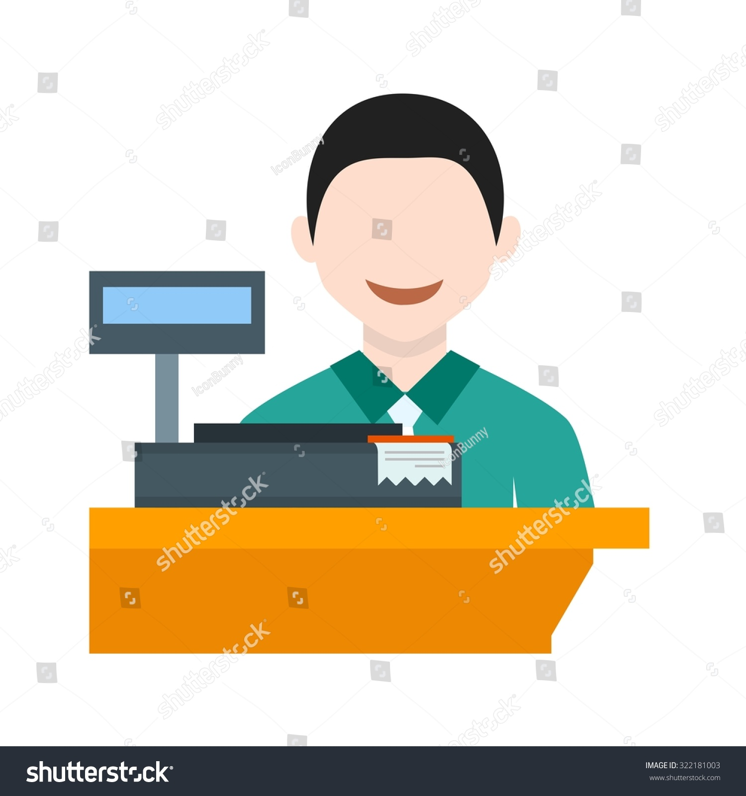 cashier bank cash icon vector image stock vector 322181003 cashier bank cash icon vector image can also be used for professionals