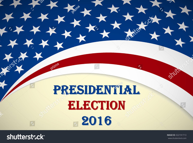 usa 2016 presidential election poster stock vector. Black Bedroom Furniture Sets. Home Design Ideas