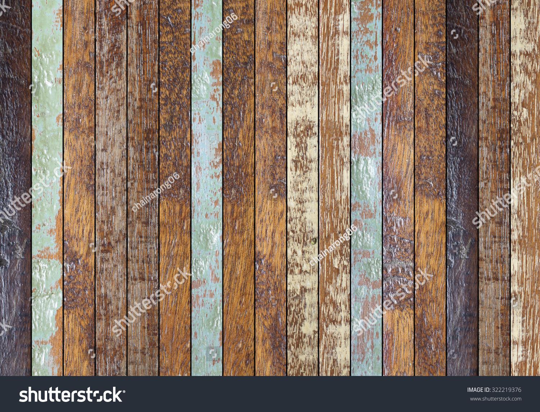Vintage Aged Wooden Coarse Texture Retro Wooden Panel