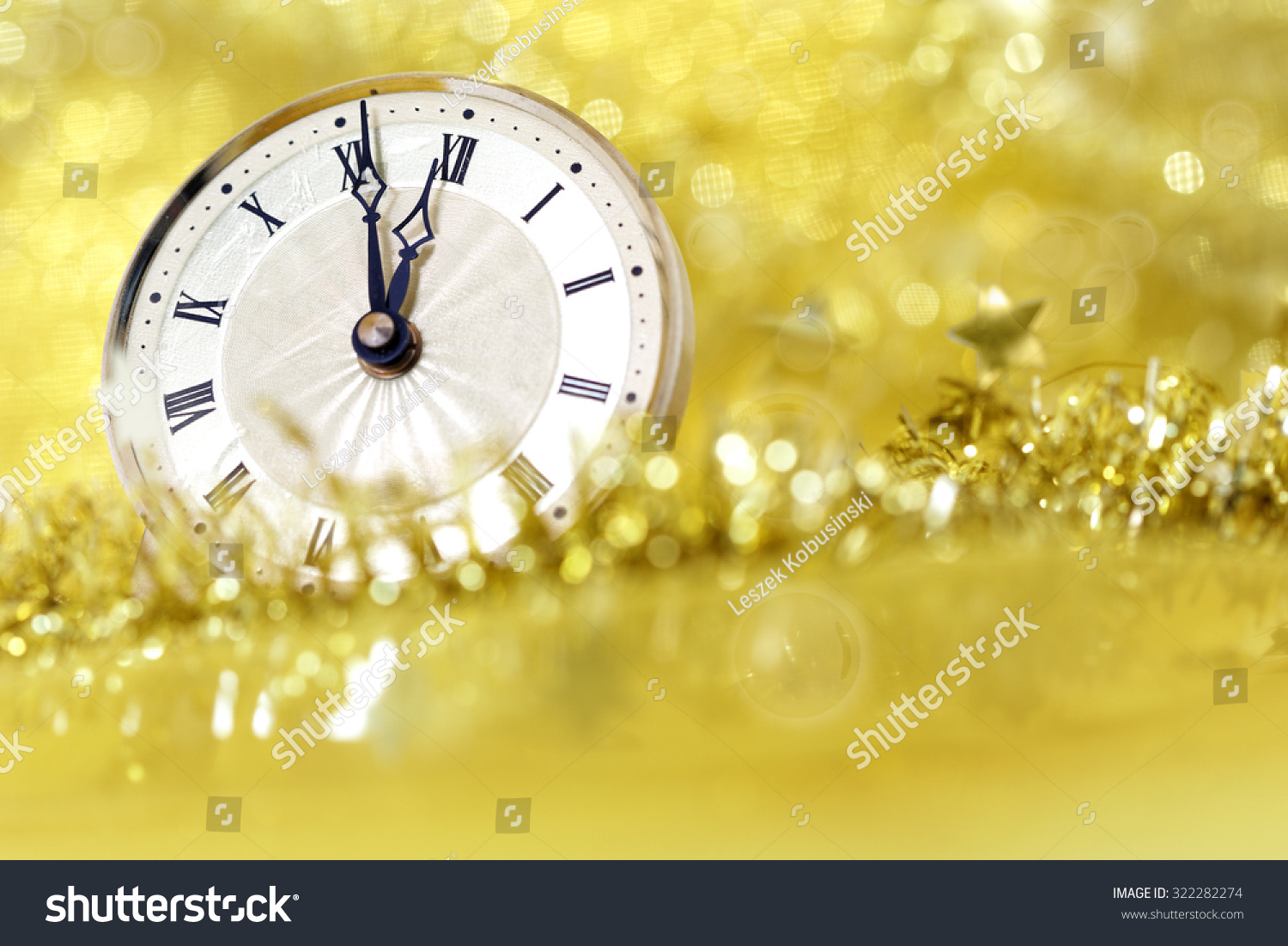Happy New Year Old Clock On Stock Photo 322282274 ...