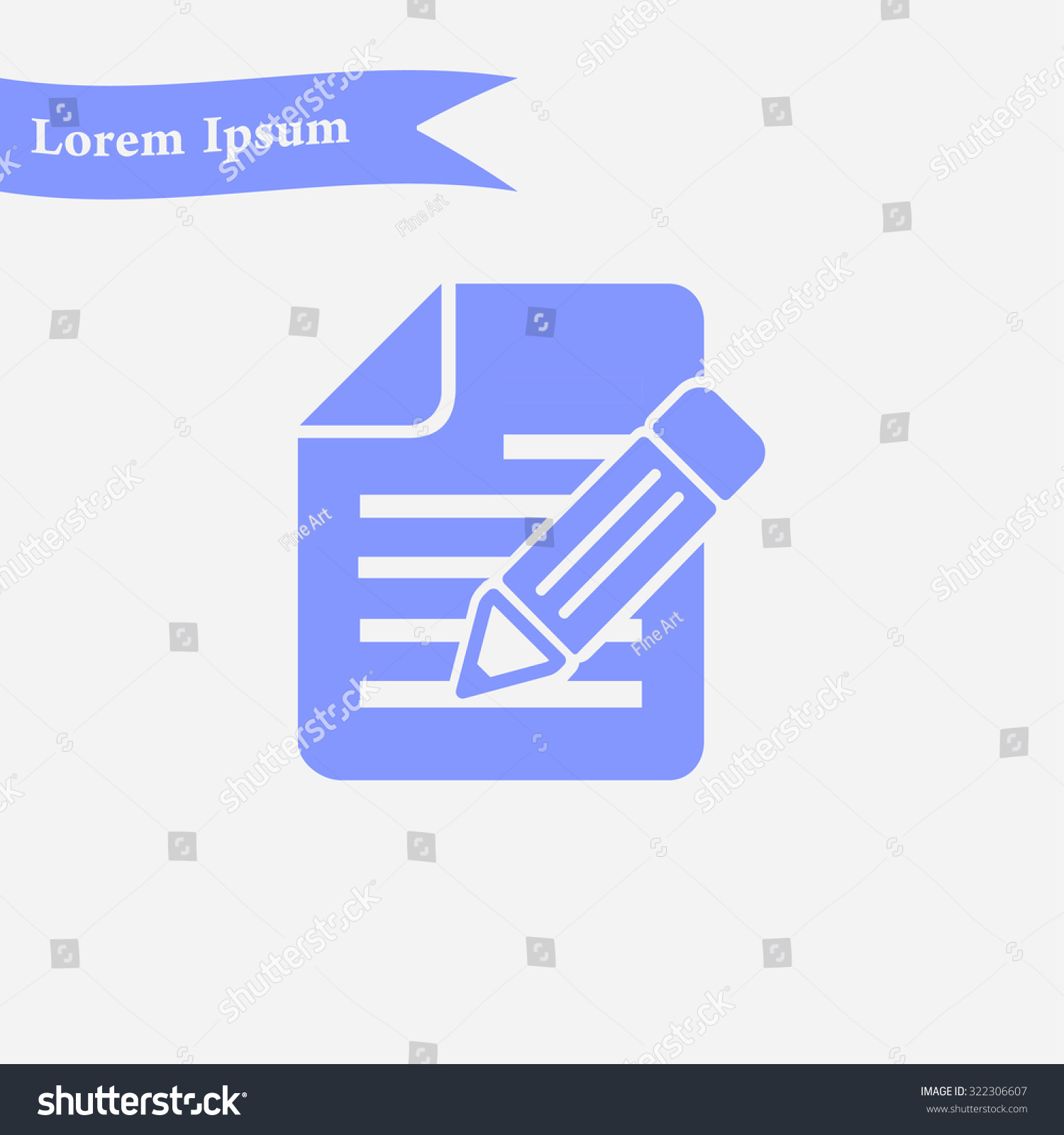 Document pen icon stock vector 322306607 shutterstock document with pen icon biocorpaavc Choice Image