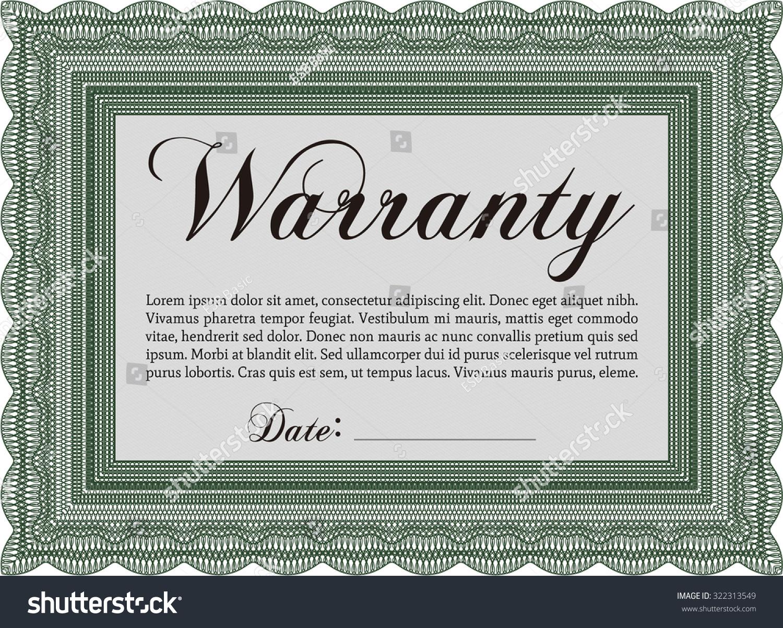 Nice guarantee template free ideas professional resume example warranty certificate template choice image templates example 1betcityfo Choice Image