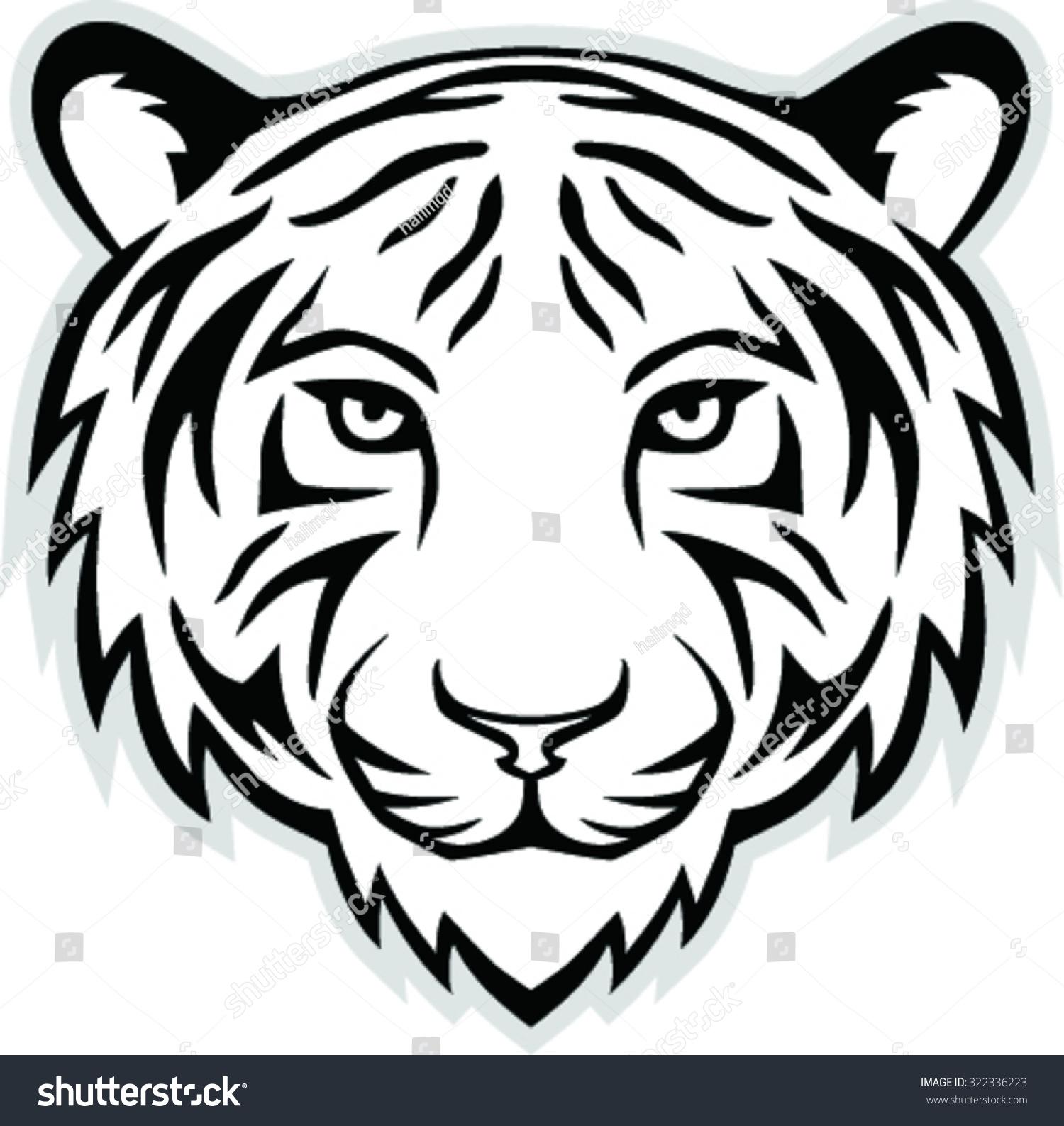 Vector Illustration Tiger Head Mascot Stock Vector ...