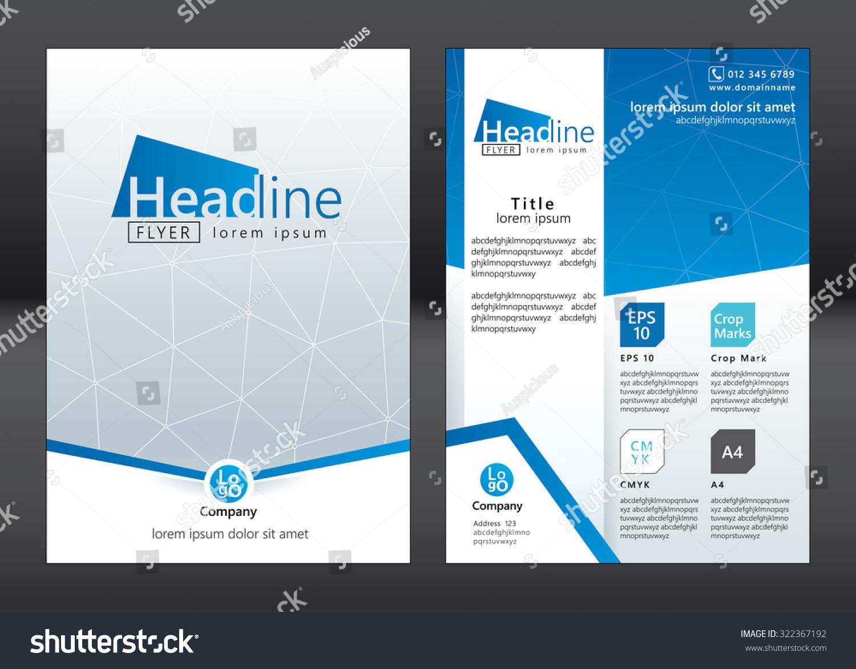 Business Brochure Template Brochure Template Design Stock Vector - Template for a brochure