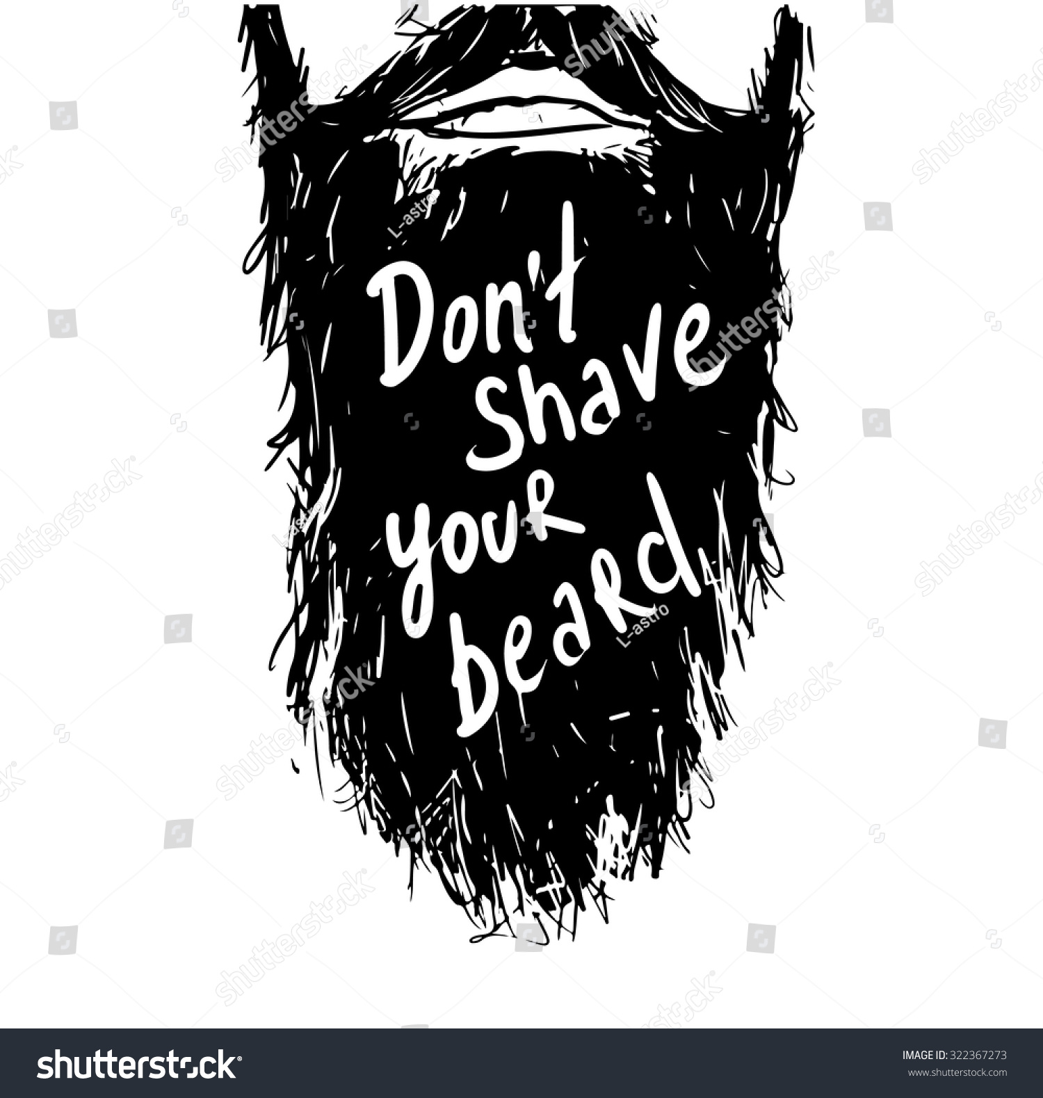 Astounding Vintage Poster Dont Shave Your Beard Stock Vector 322367273 Hairstyles For Men Maxibearus