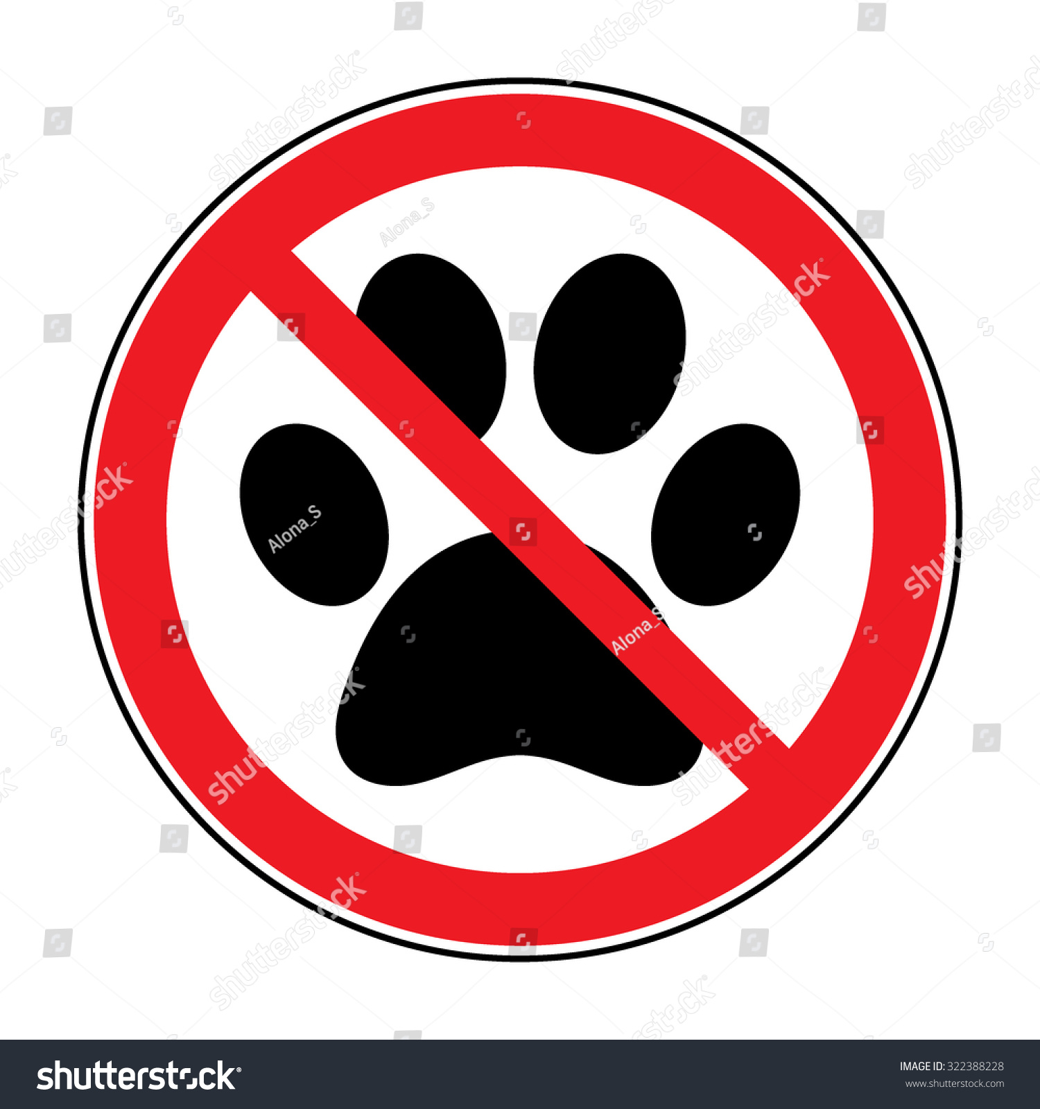 This is an image of Wild No Pets Allowed Sign Free Printable