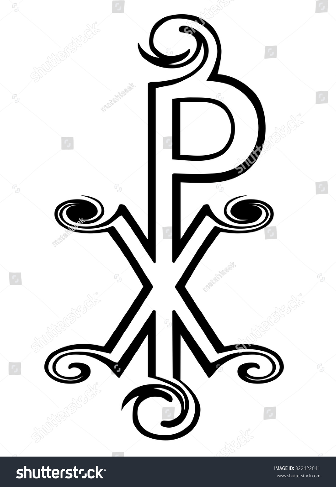 Chi Rho Symbol Christ Labarum Christogram Stock Vector Royalty Free