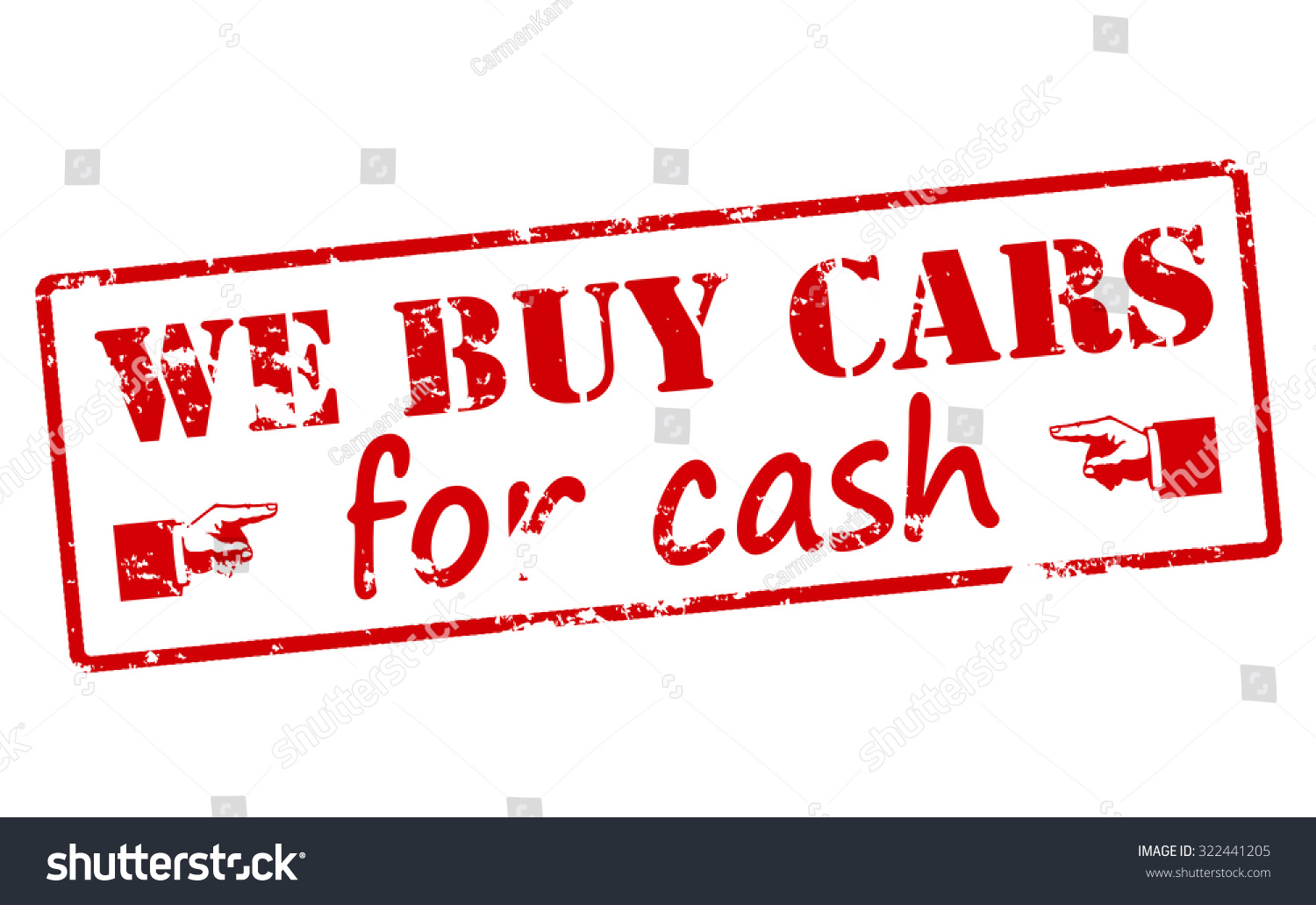 Rubber Stamp Text We Buy Cars Stock Vector 322441205 - Shutterstock