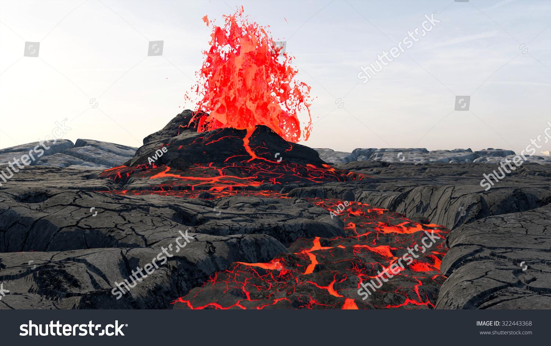 Volcanic Eruption Lava...