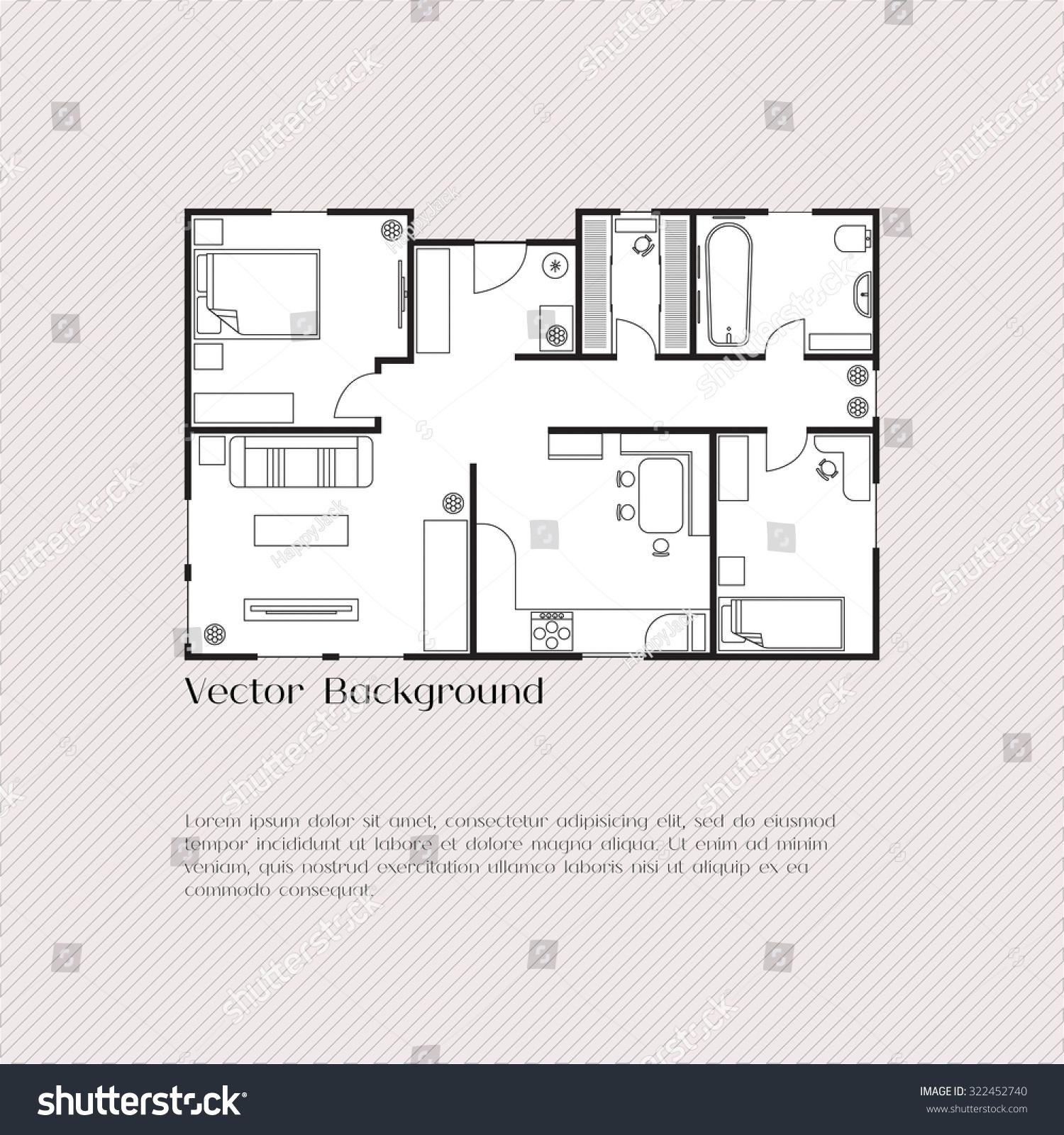 house plan background card banner presentation stock vector, Presentation templates