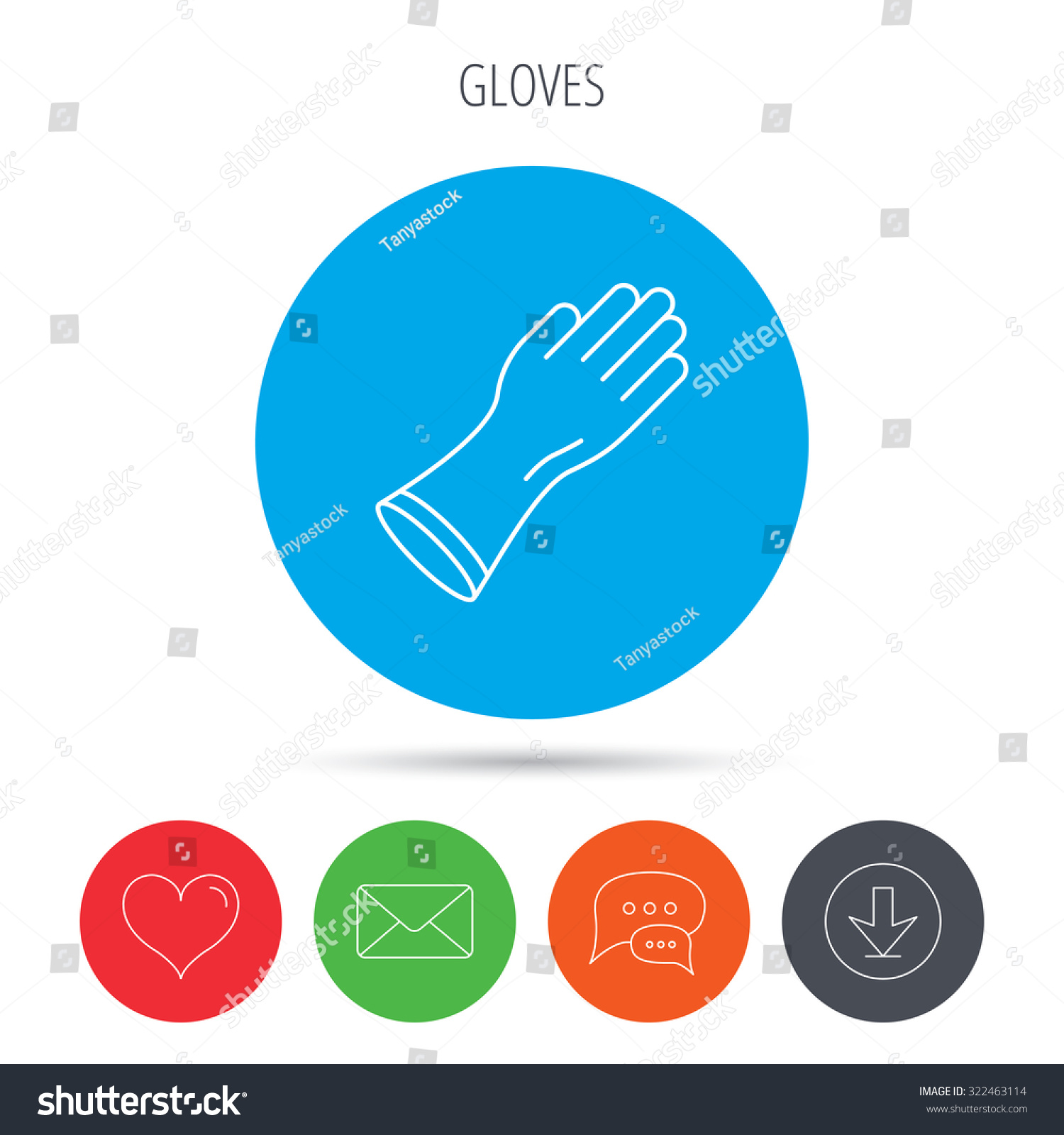 Rubber gloves icon latex hand protection stock vector 322463114 latex hand protection sign housework cleaning equipment symbol mail biocorpaavc