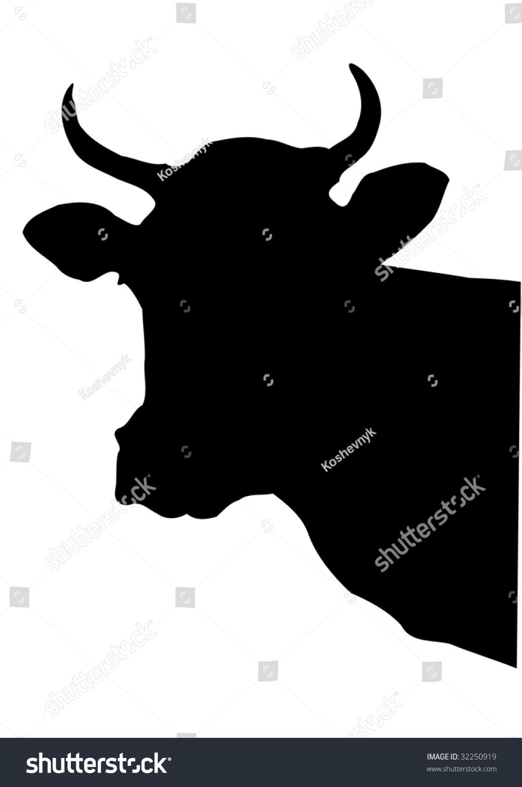 Cow Head Stock Vector 32250919 - Shutterstock