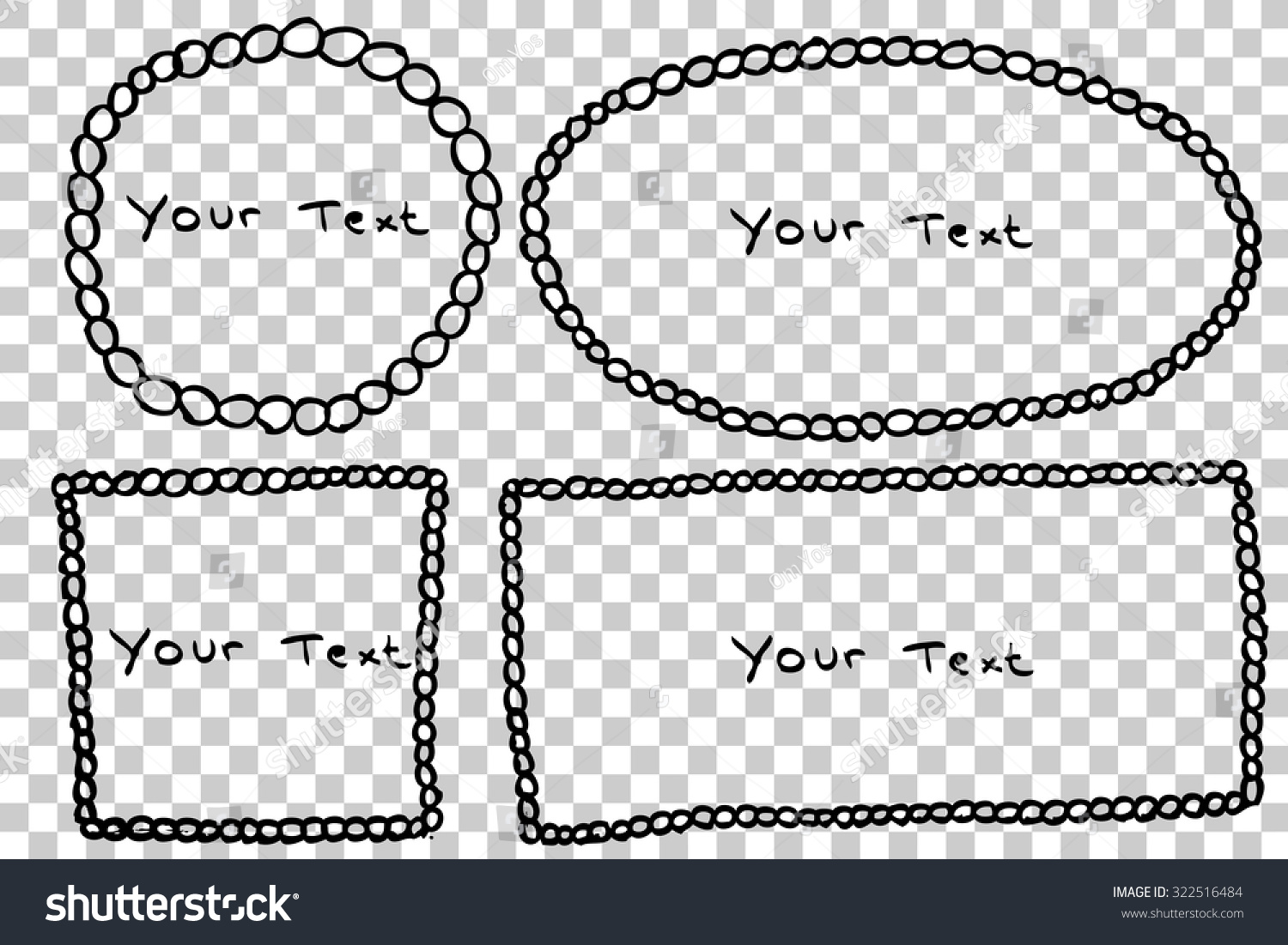 Hand Draw Sketch Four Frame Circle Stock Vector Royalty Free