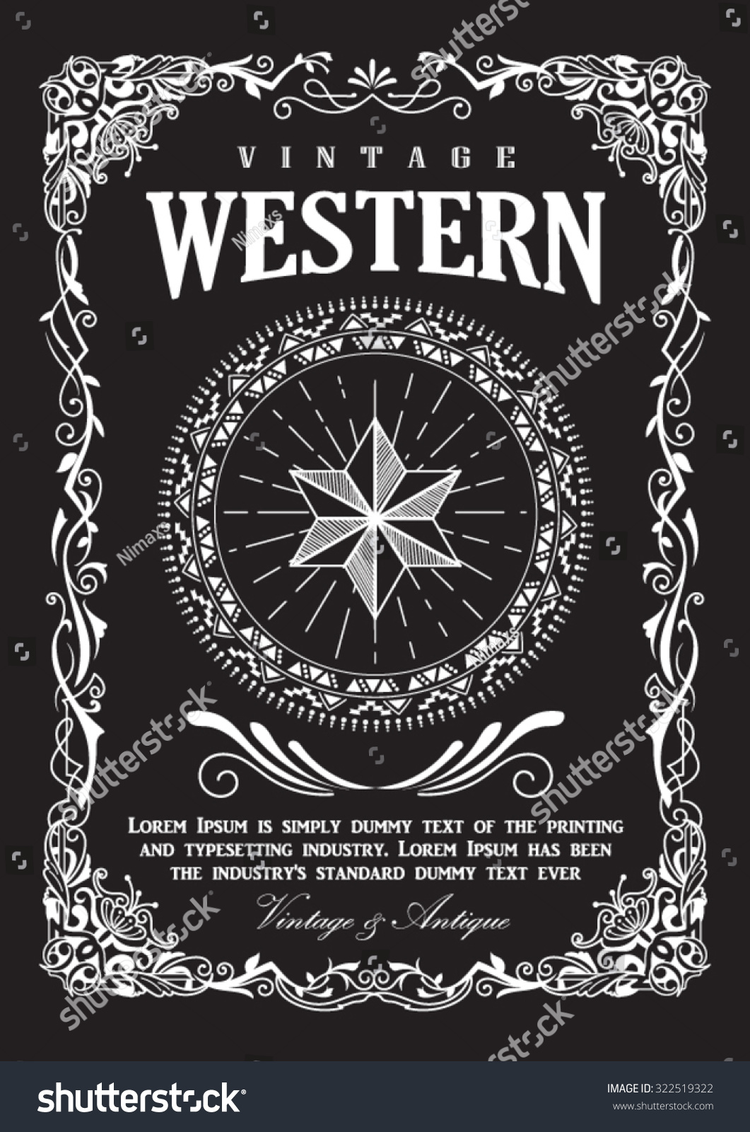 Western Flourish Vector