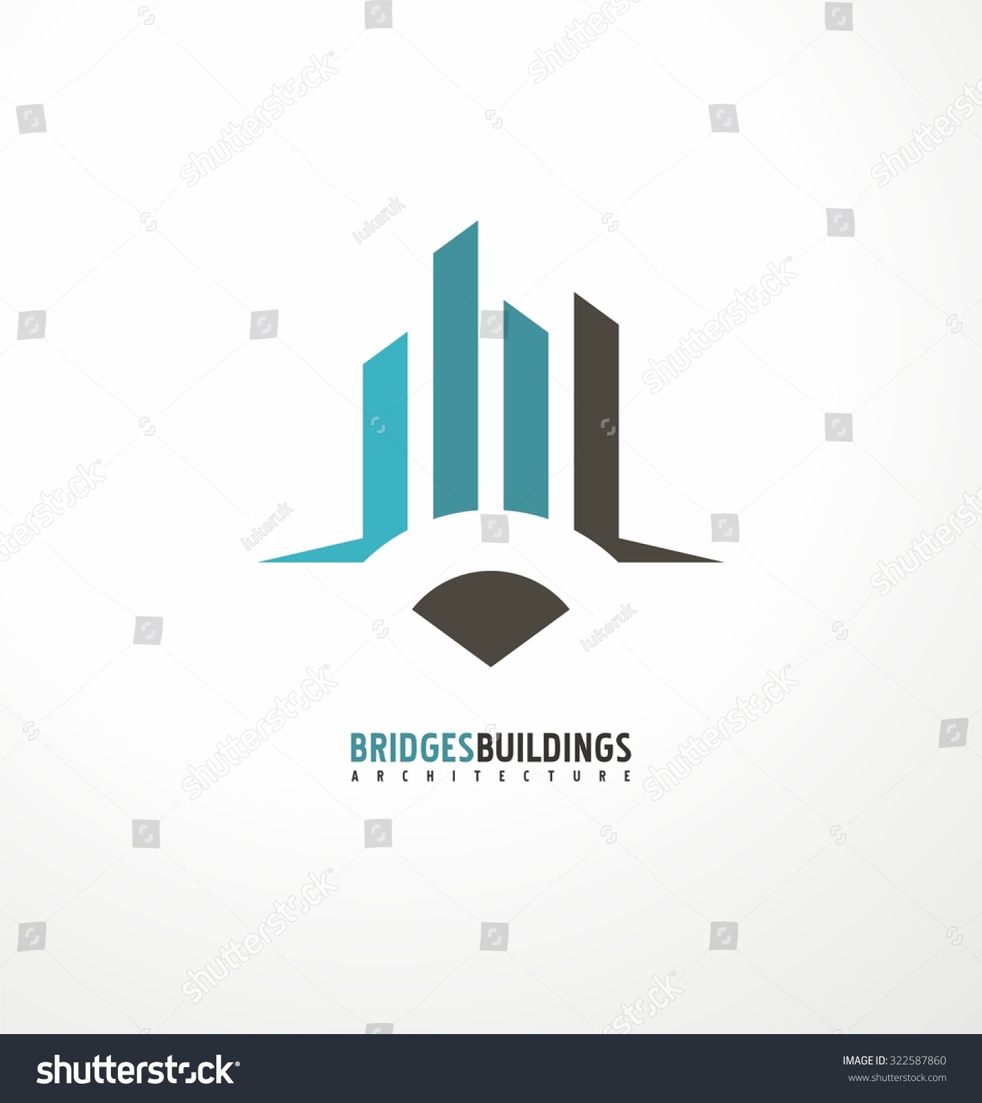 Creative concept pencil city skyline bridge stock vector for Space architecture and design