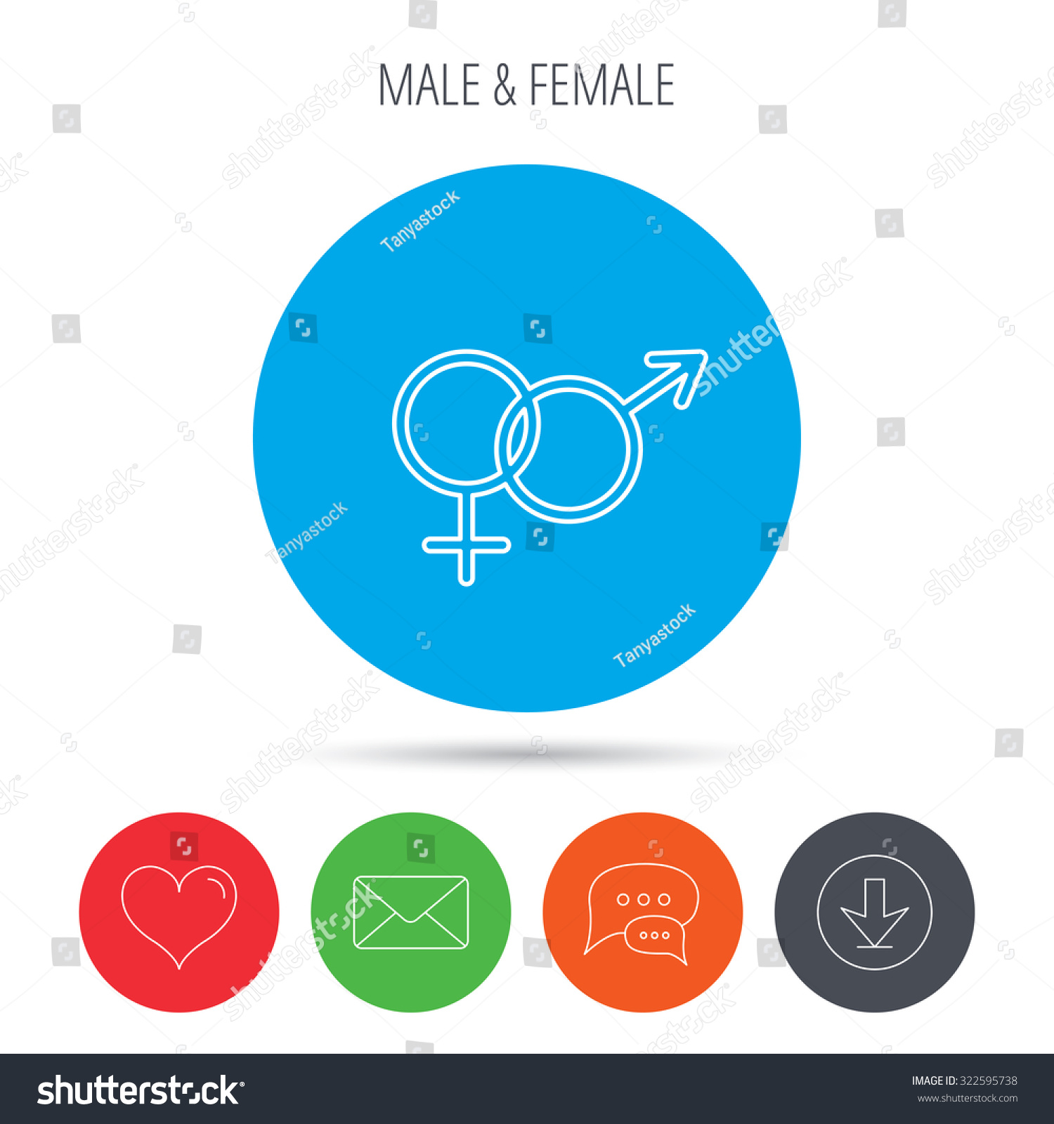 Male Female Icon Traditional Sexuality Sign Stock Vector Royalty