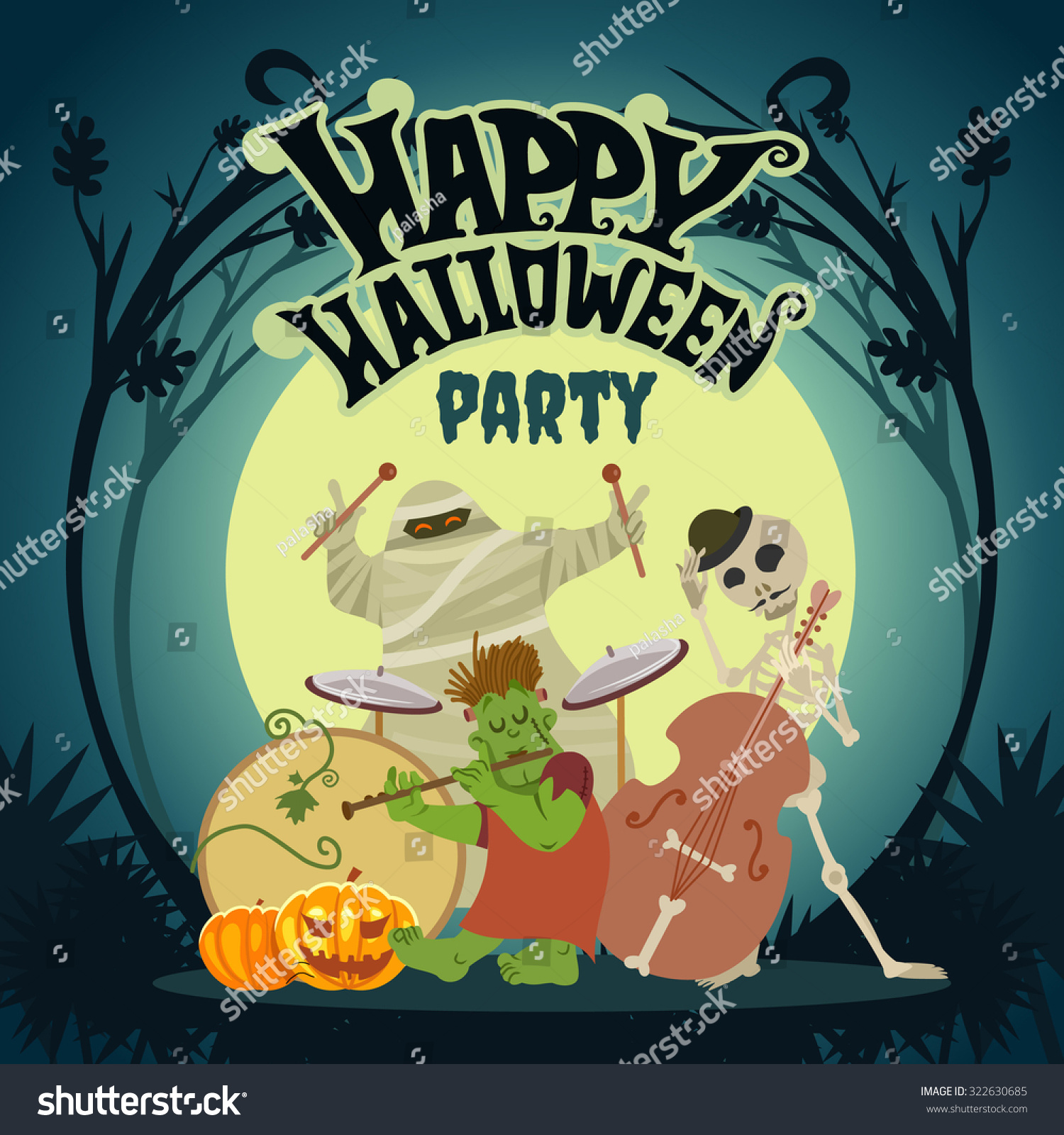 Event design solutions gallery minute to win it games puddle jumper cute cartoon halloween music band playing stock vector blueprint party malvernweather Gallery