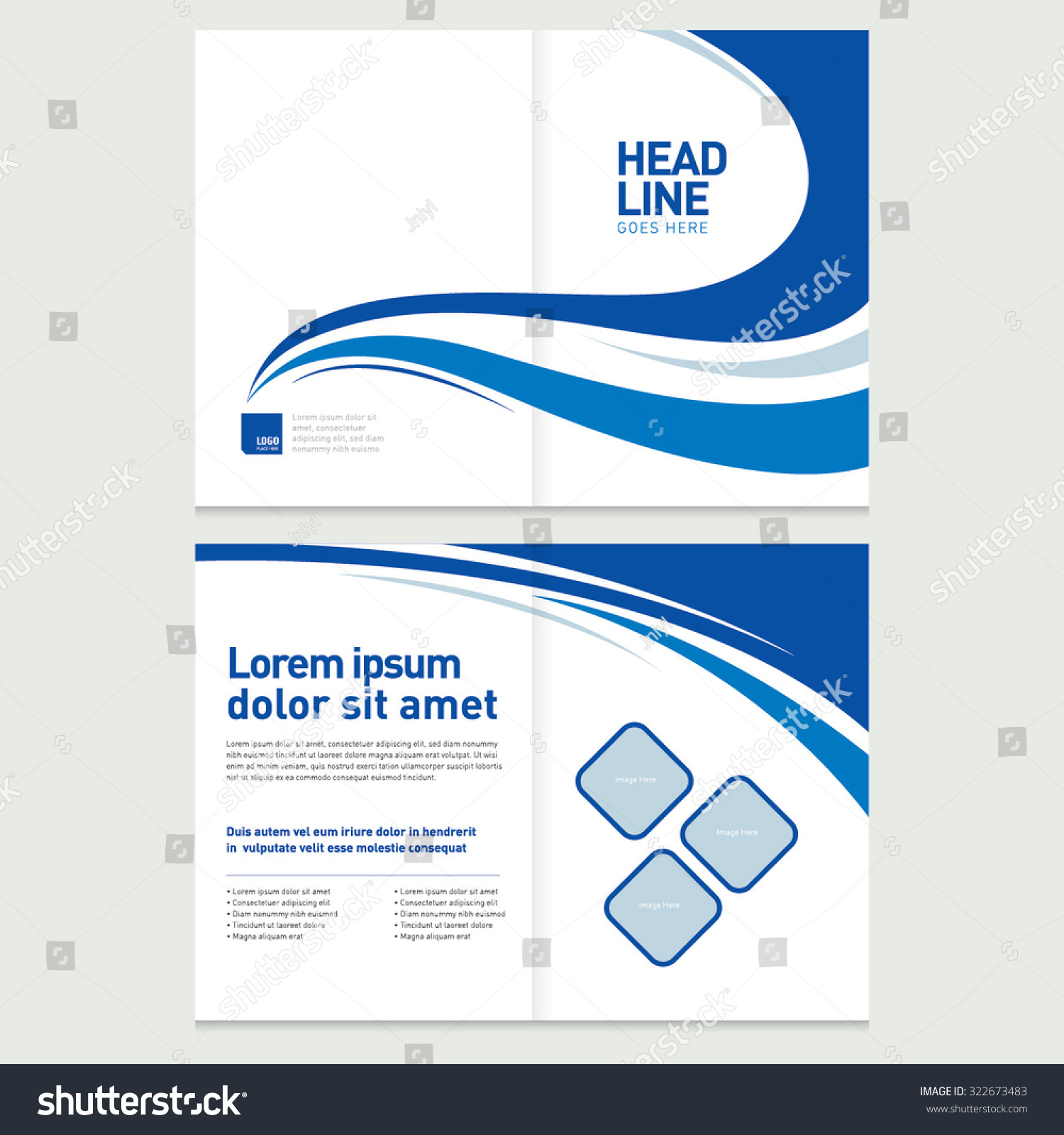 brochure cover inner pages design template stock vector