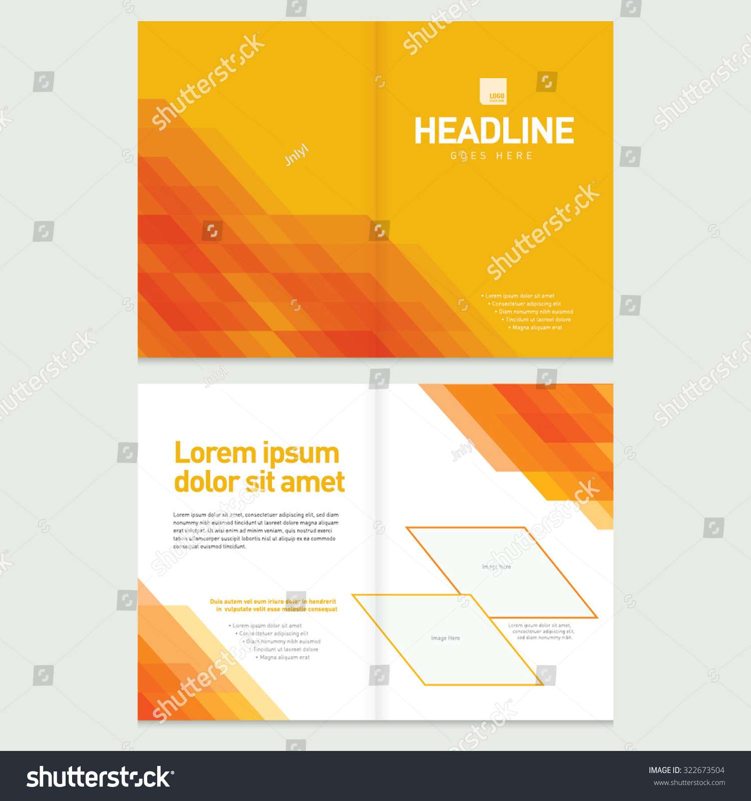 brochure cover inner pages design template stock vector  brochure cover and inner pages design template abstract background geometrical pattern presentation slides