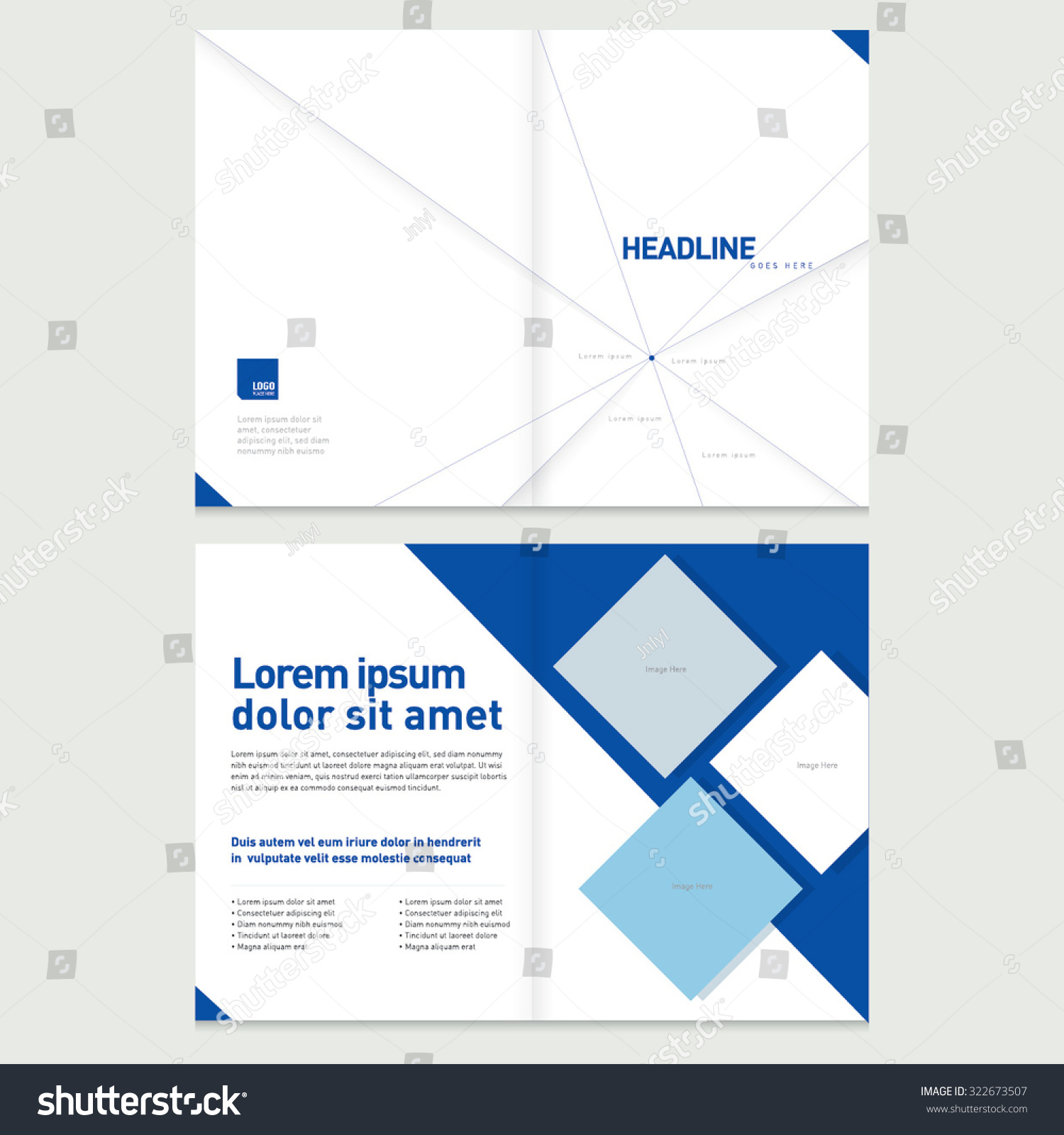 Brochure Cover Inner Pages Design Template Stock Vector 322673507 ...