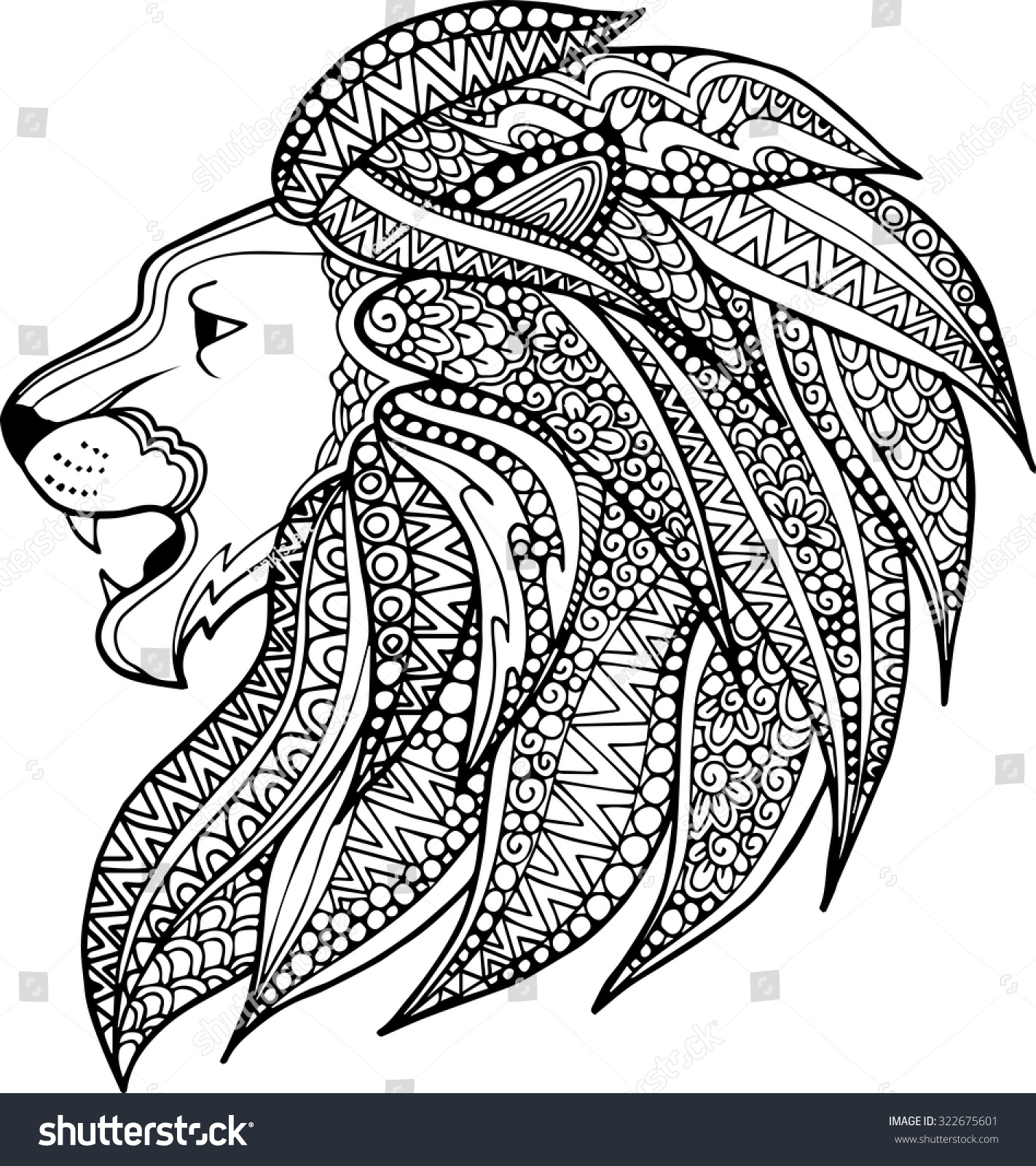 Gallery For gt Zentangle Lion
