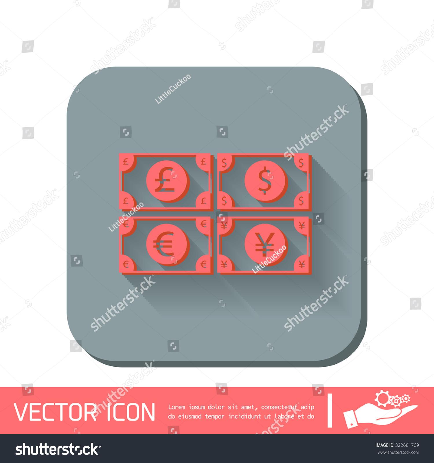 Money Bill Sign Symbol Icon Dollar Stock Vector Royalty Free