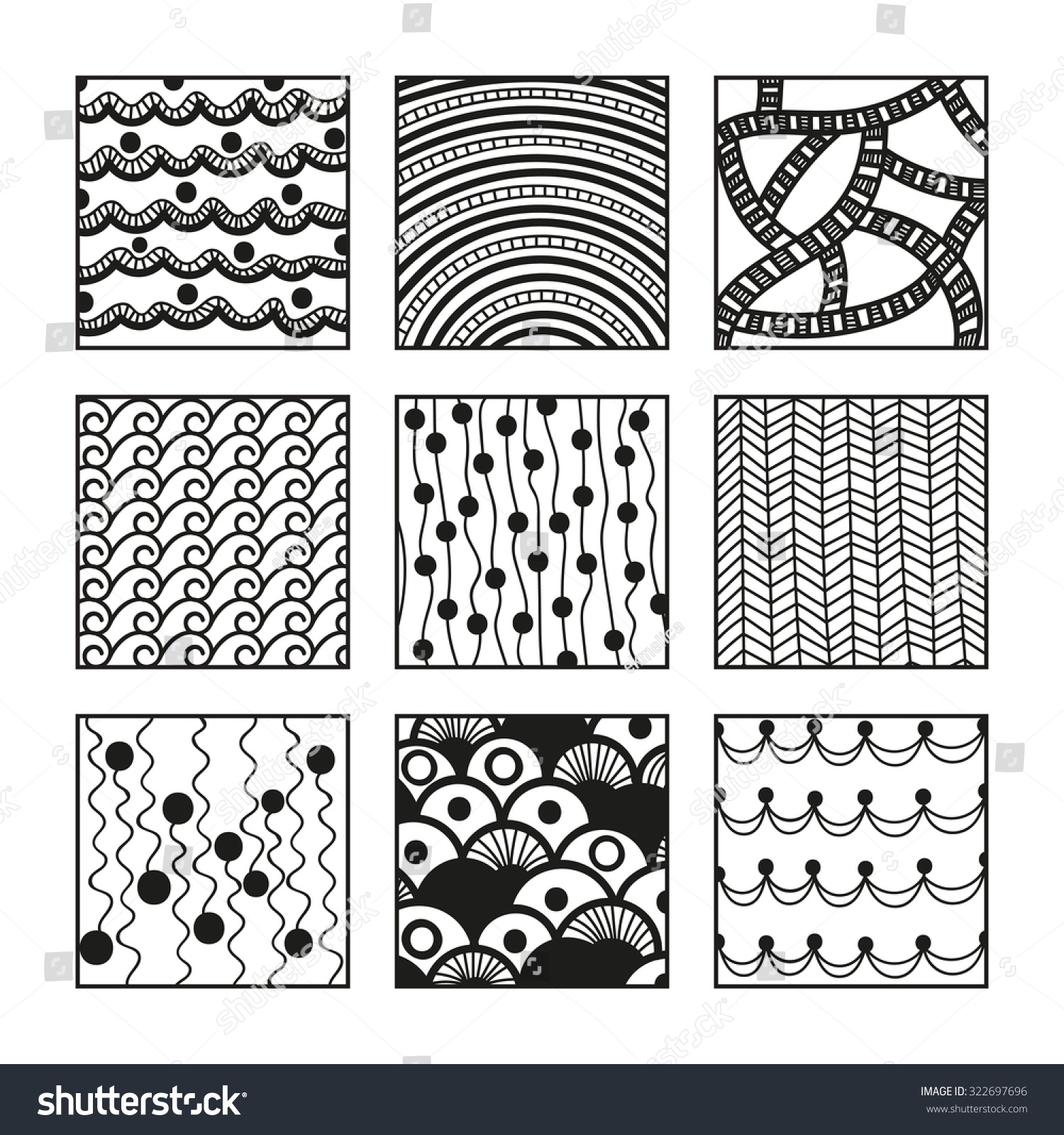 Zentangle Patterns Simple Decoration