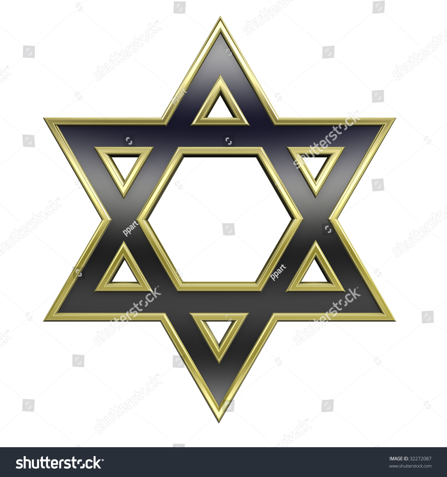 Black gold frame judaism religious symbol stock illustration black with gold frame judaism religious symbol star of david isolated on white computer biocorpaavc