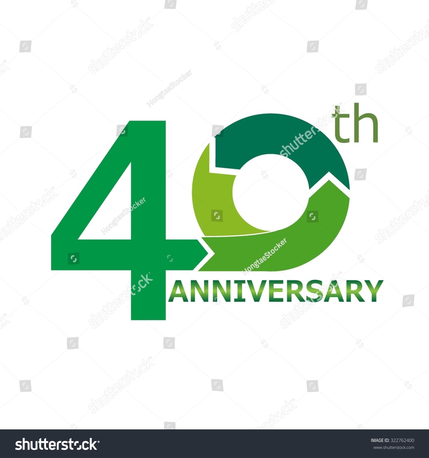 Template logo th anniversary stock vector