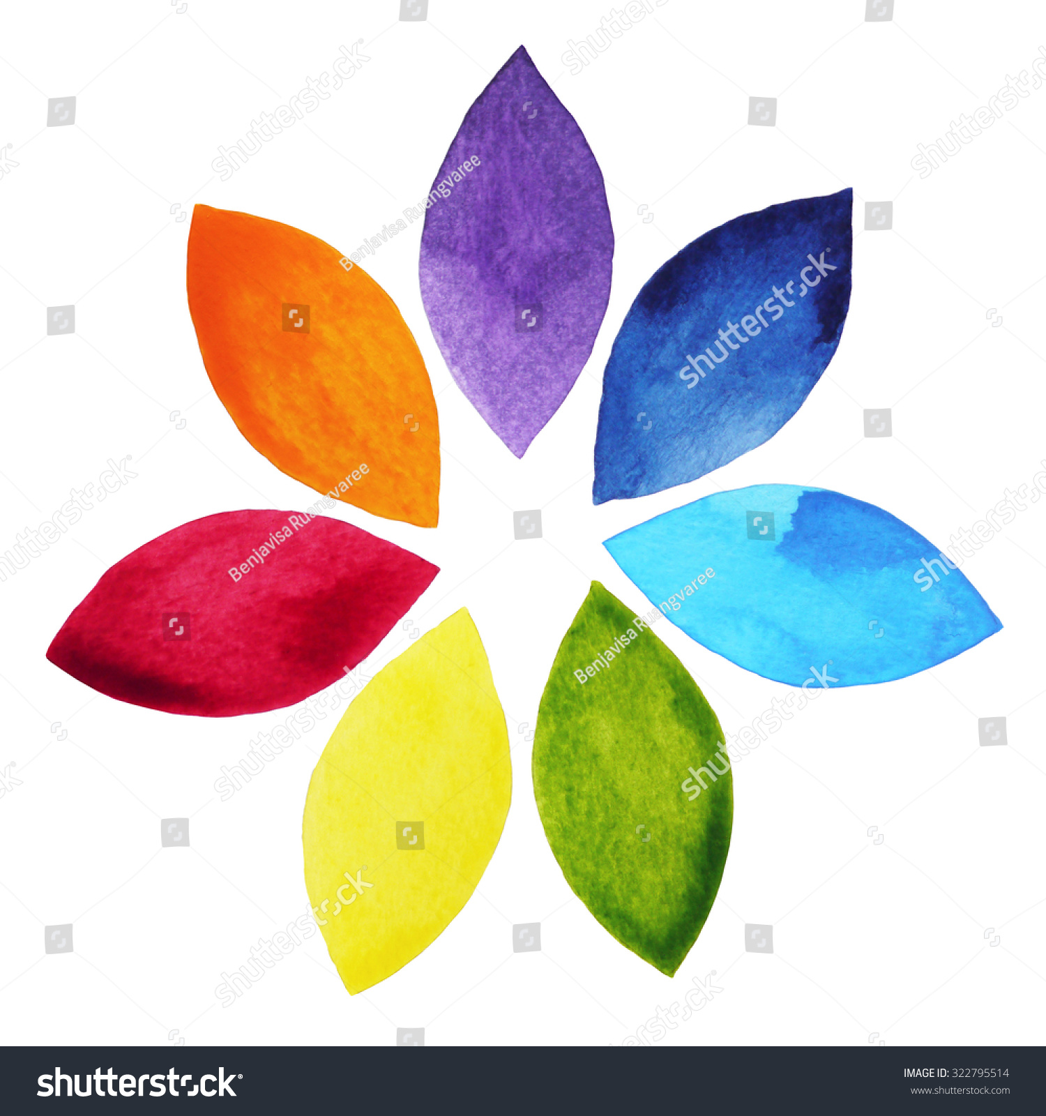 7 color chakra sign symbol colorful stock illustration 322795514 7 color of chakra sign symbol colorful lotus flower icon watercolor painting hand drawn izmirmasajfo