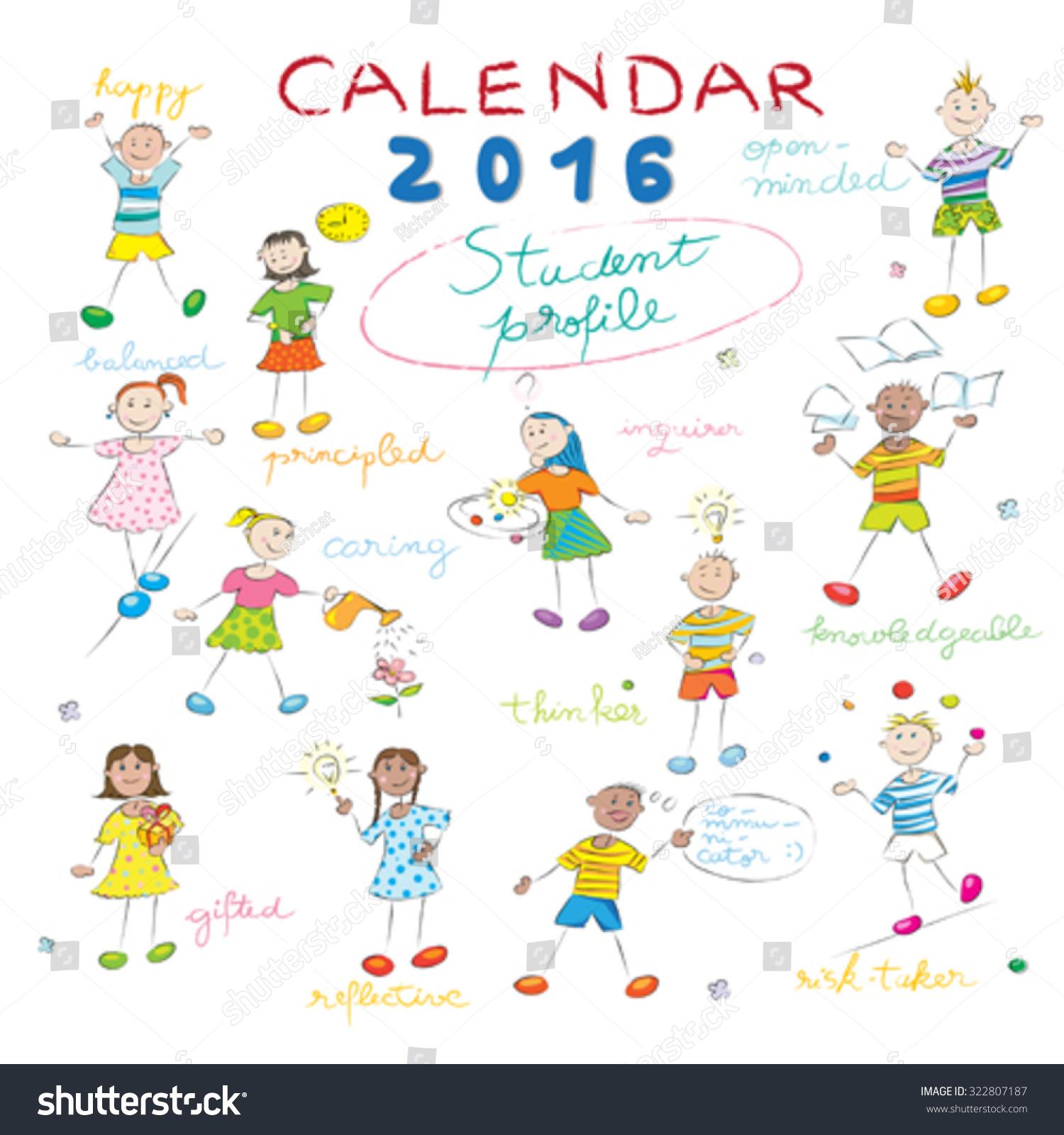 Cover Calendar Design Vector : Calendar cover design year on stock vector